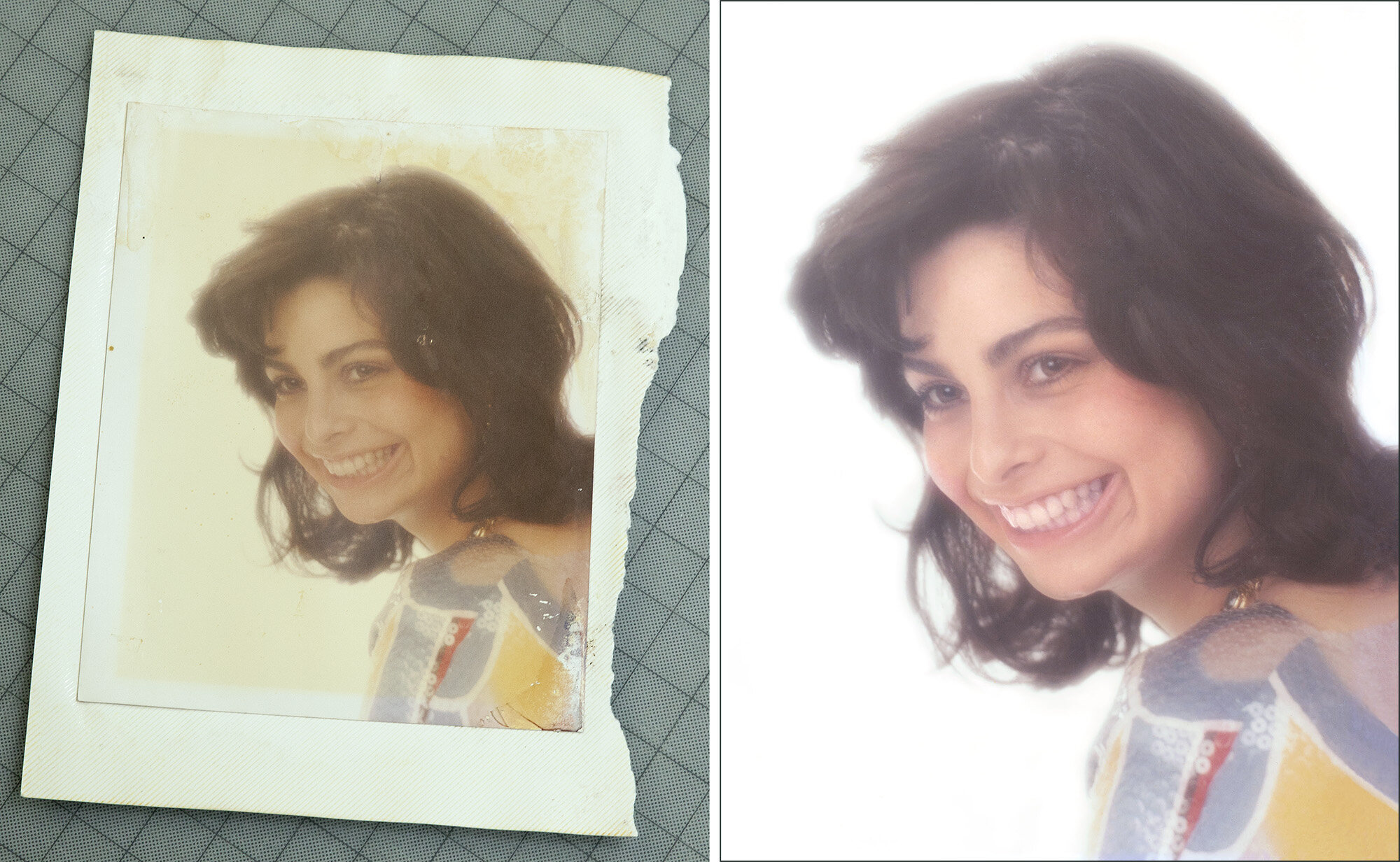 Repairing and restoring old faded and damaged photographs and art prints.