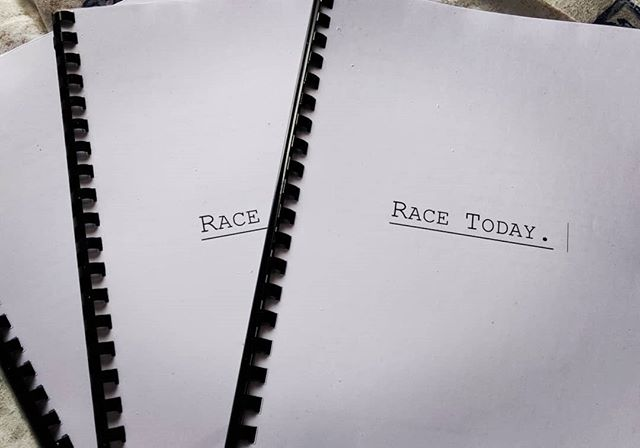 Show scripts printed! We are cooking with gas! #RaceToday Show countdown - come see on 12th April! @bgacentre2007