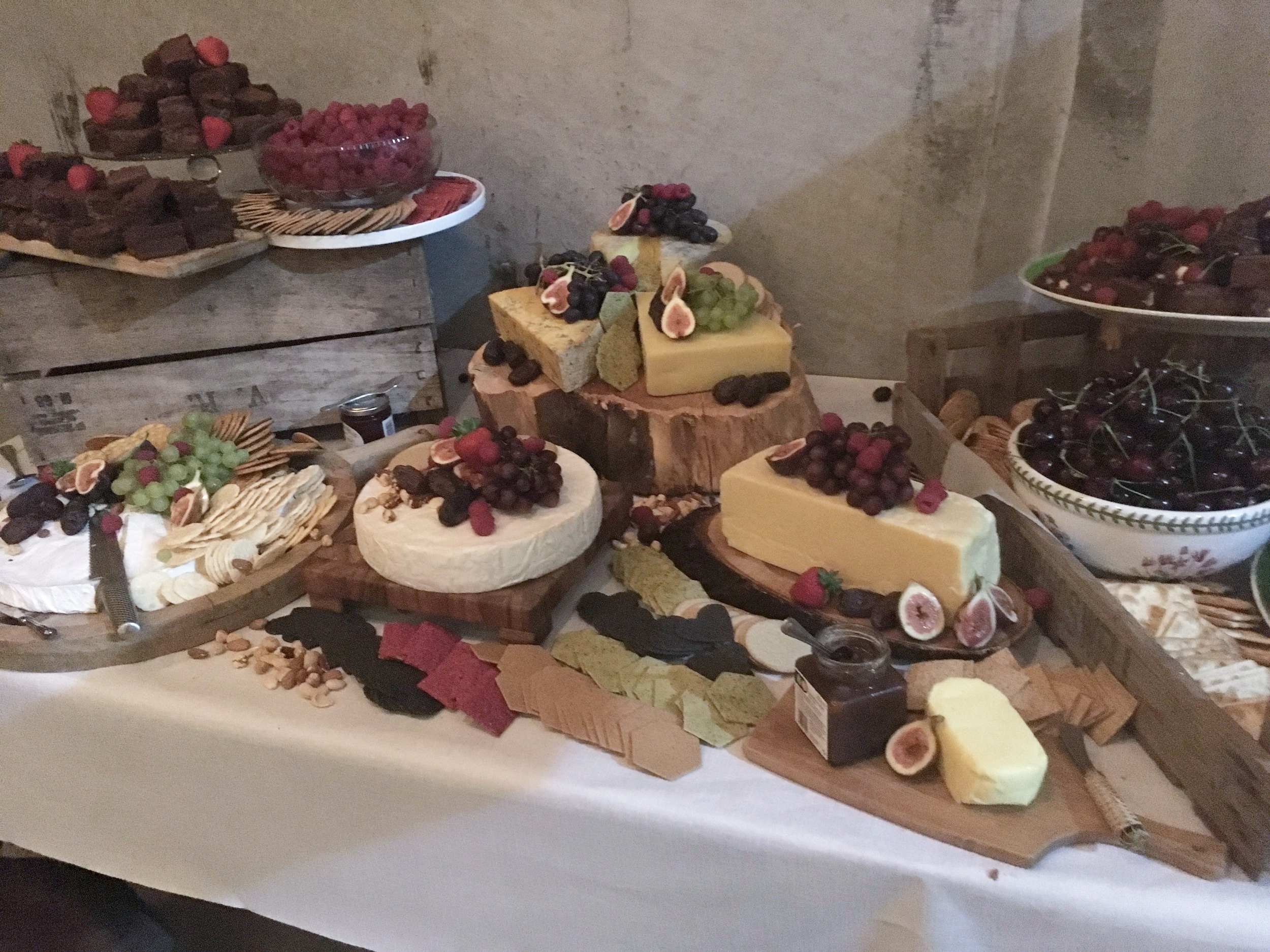 Cheese and Brownie Grazing Table