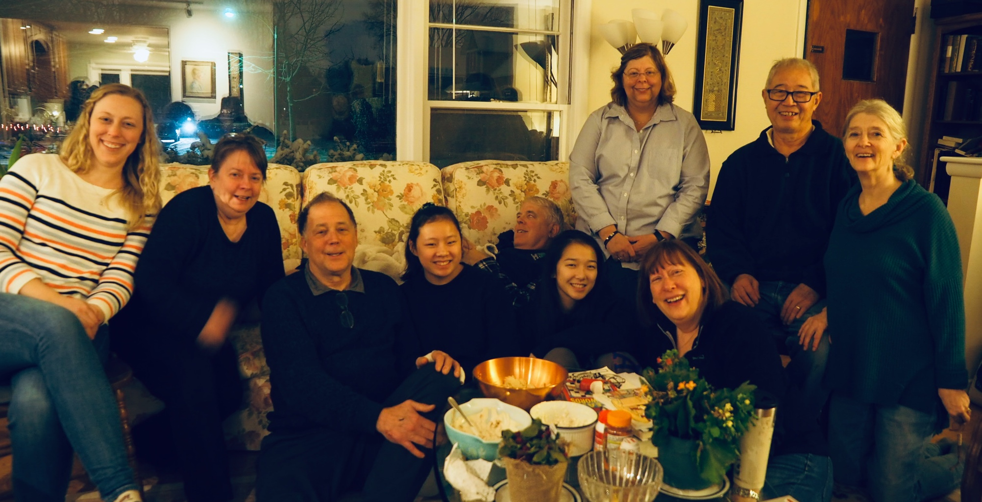 After-Dinner at Bryan's. Most of us in a happy stupor due mainly to overeating, not medications
