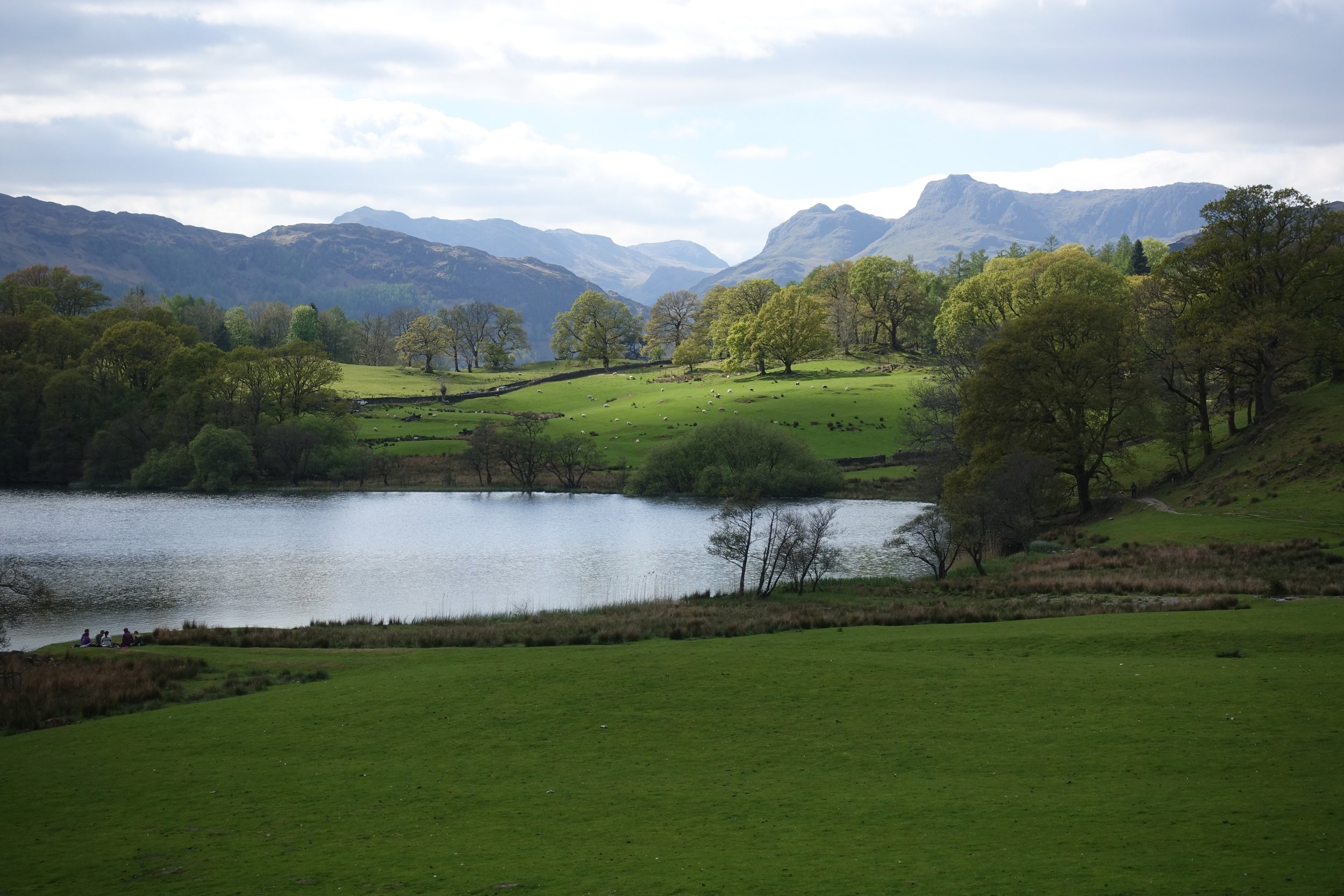 Loughrigg Tarn, which unsurprisingly is just below Loughrigg Fell