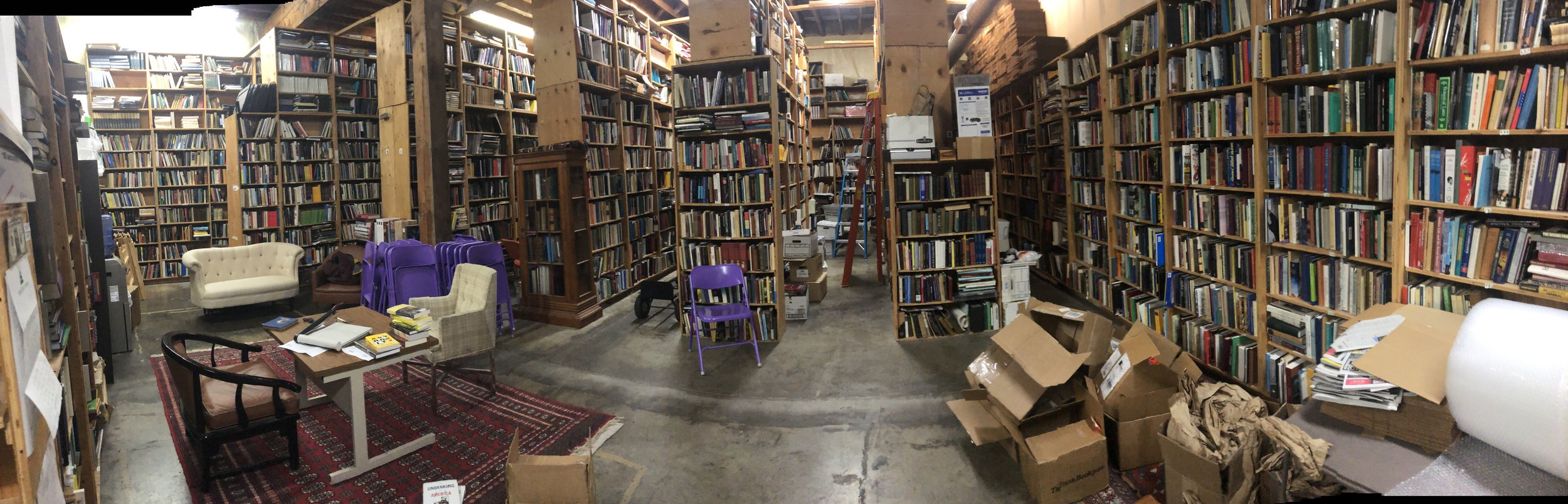 A small part of Daedalus Books' warehouse