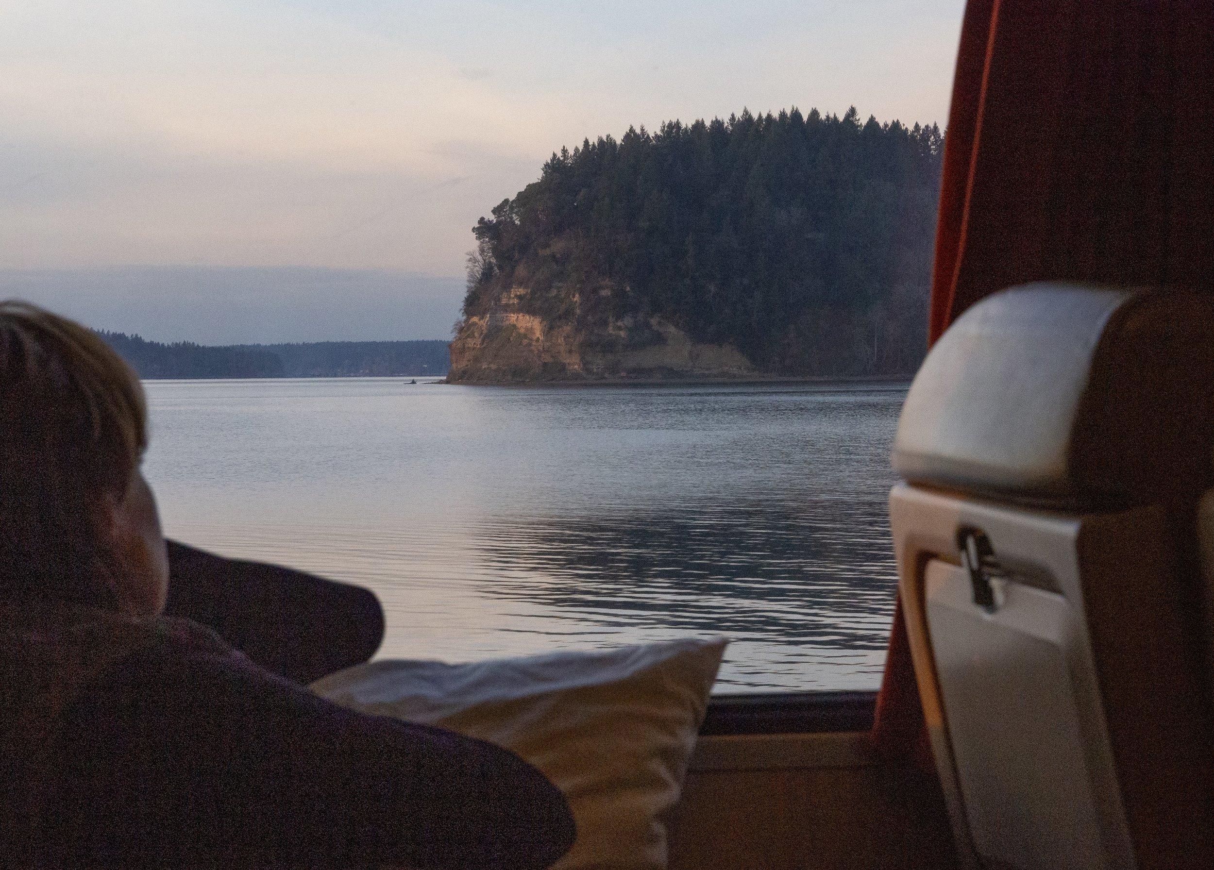 Puget Sound on left side