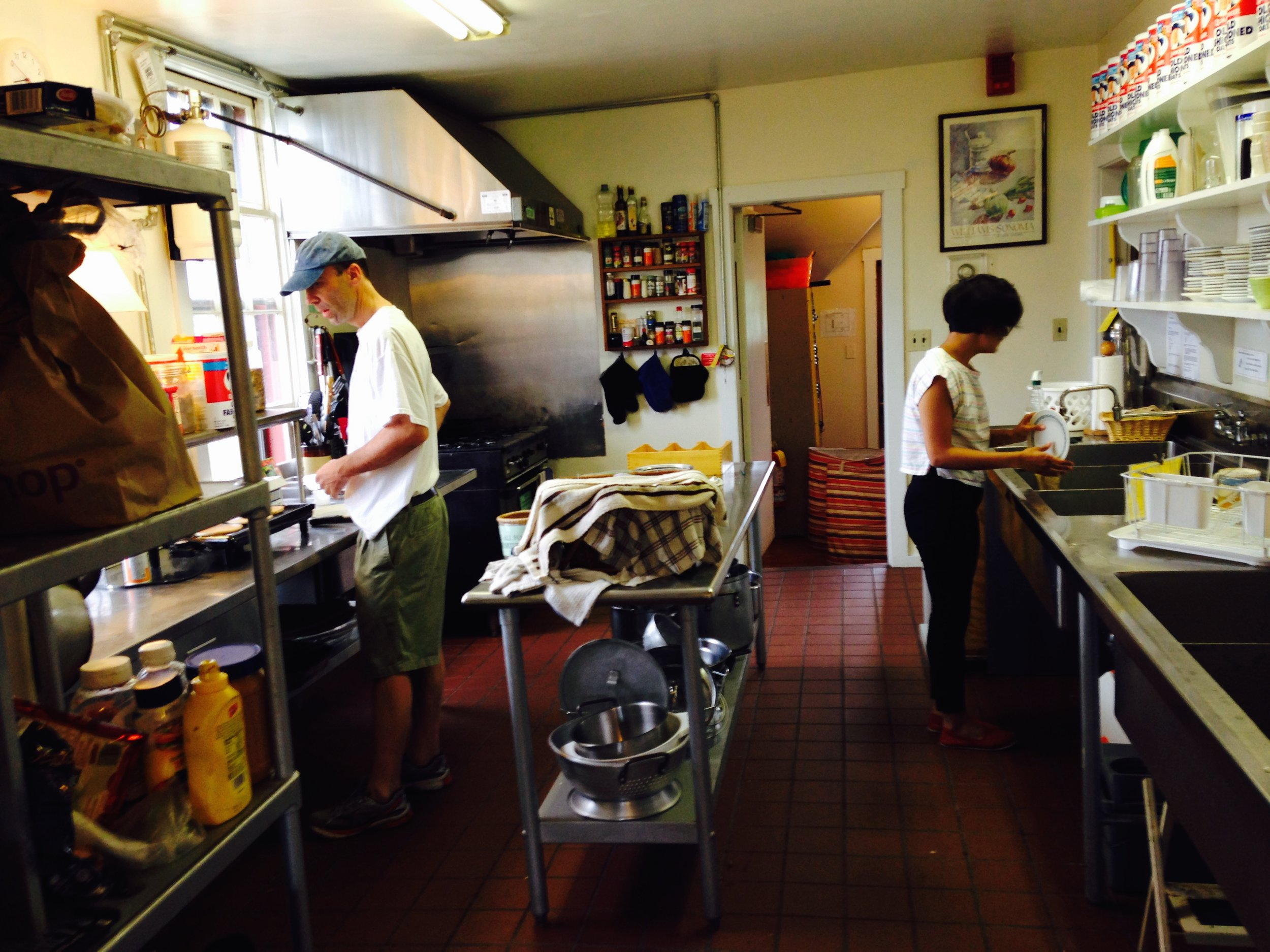 HI hostel kitchen on Nantucket