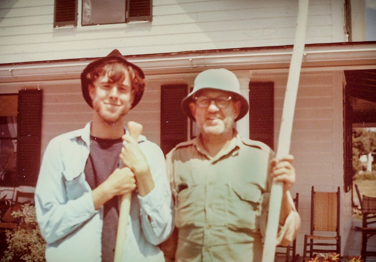 August 1971, back in Harpswell on the Maine coast, right after we returned from the Allagash