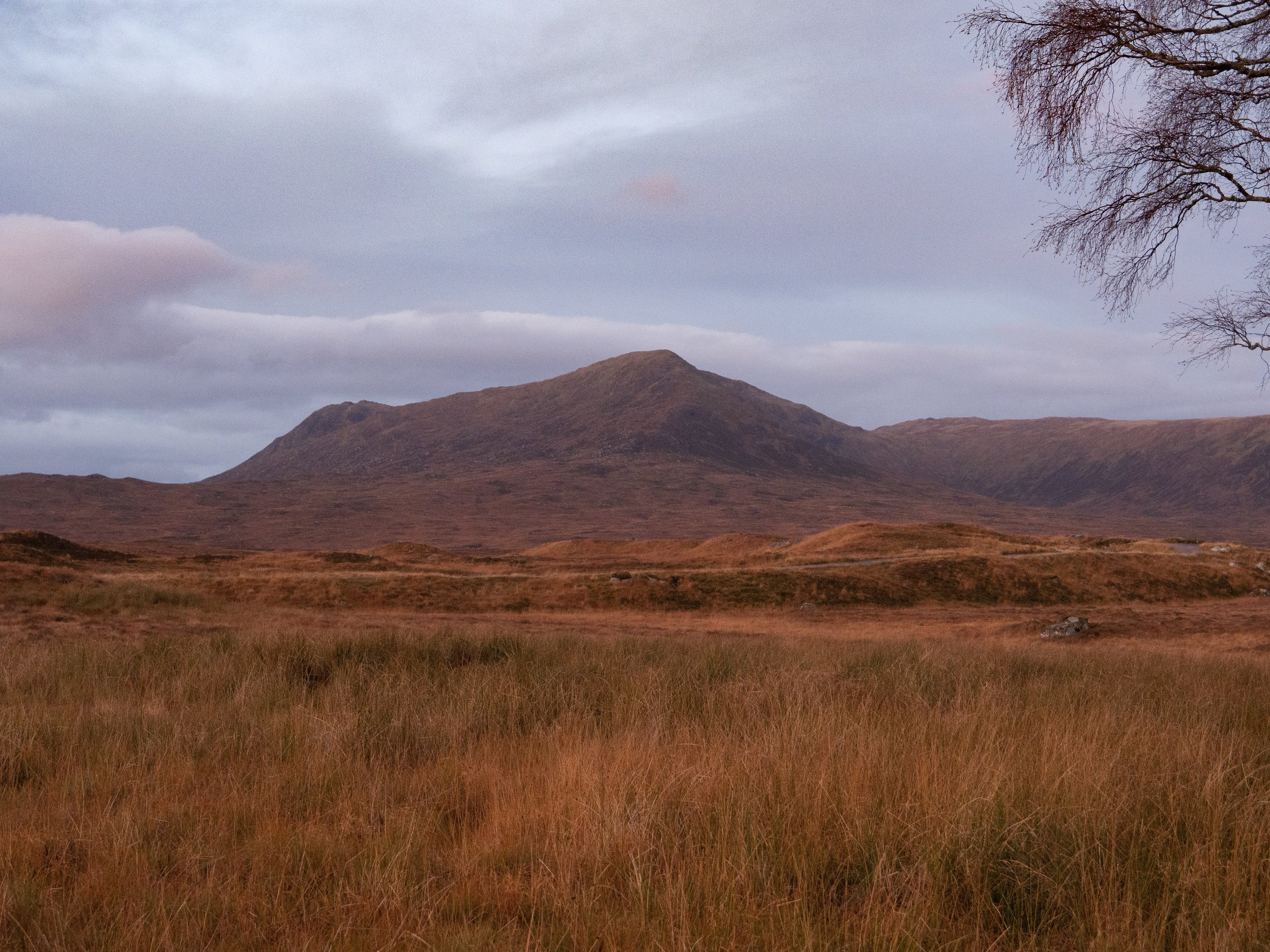 Walking out, morning after overnight at Loch Ossian Hostel.