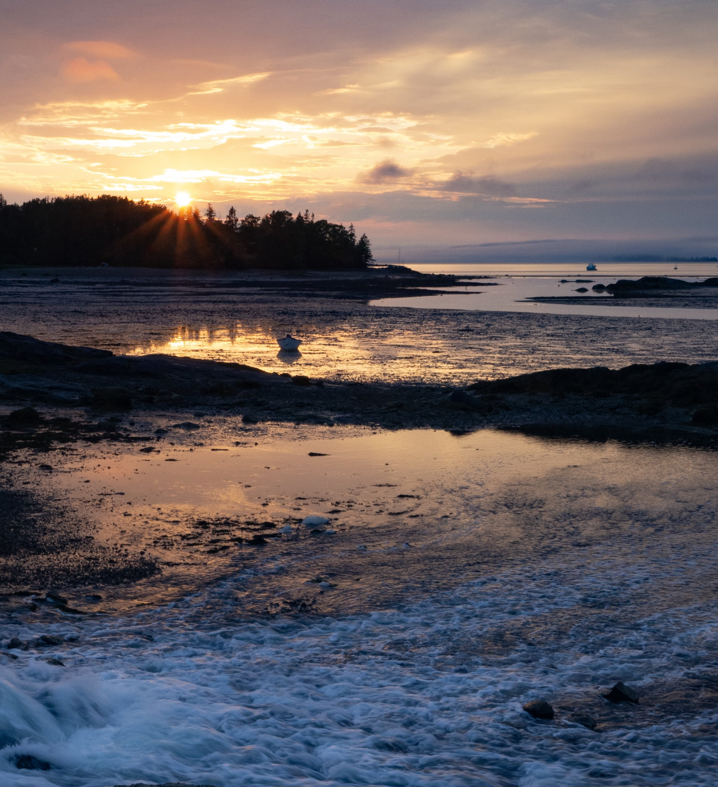 I had been several days in Stonington Maine before I came across this western facing cove with the sun and the tides just right