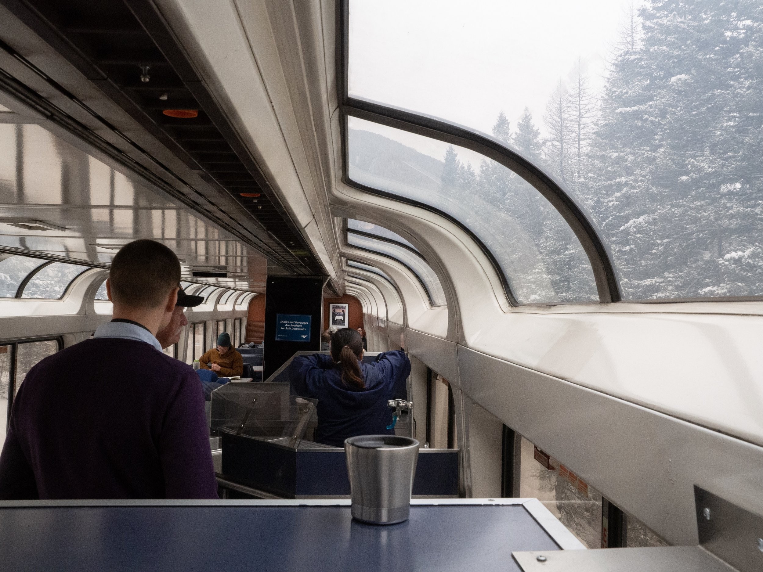 Lounge car on Emprire Builder in Montana