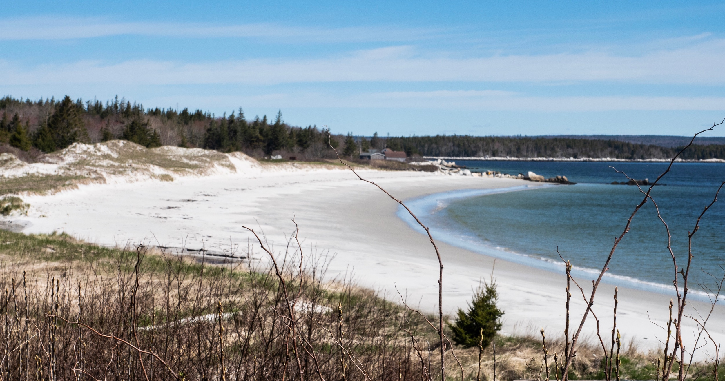 This beach was so commonly ordinary for this area along the southwestern coast, I could not even find a name for it. All of the more notable beaches were in Provincial Parks that, unfortunately, we're still closed for the season.