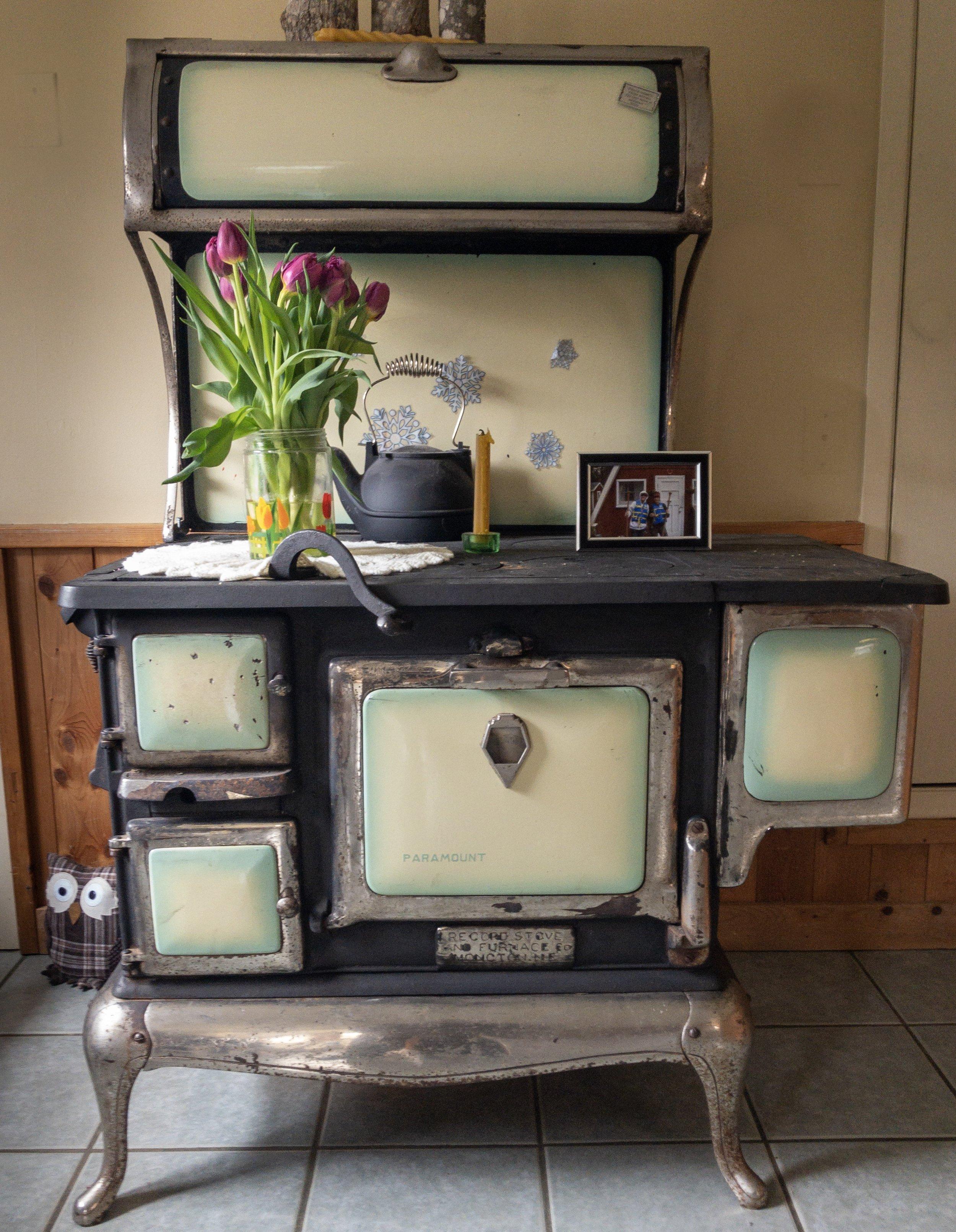 Janice's wood burning stove