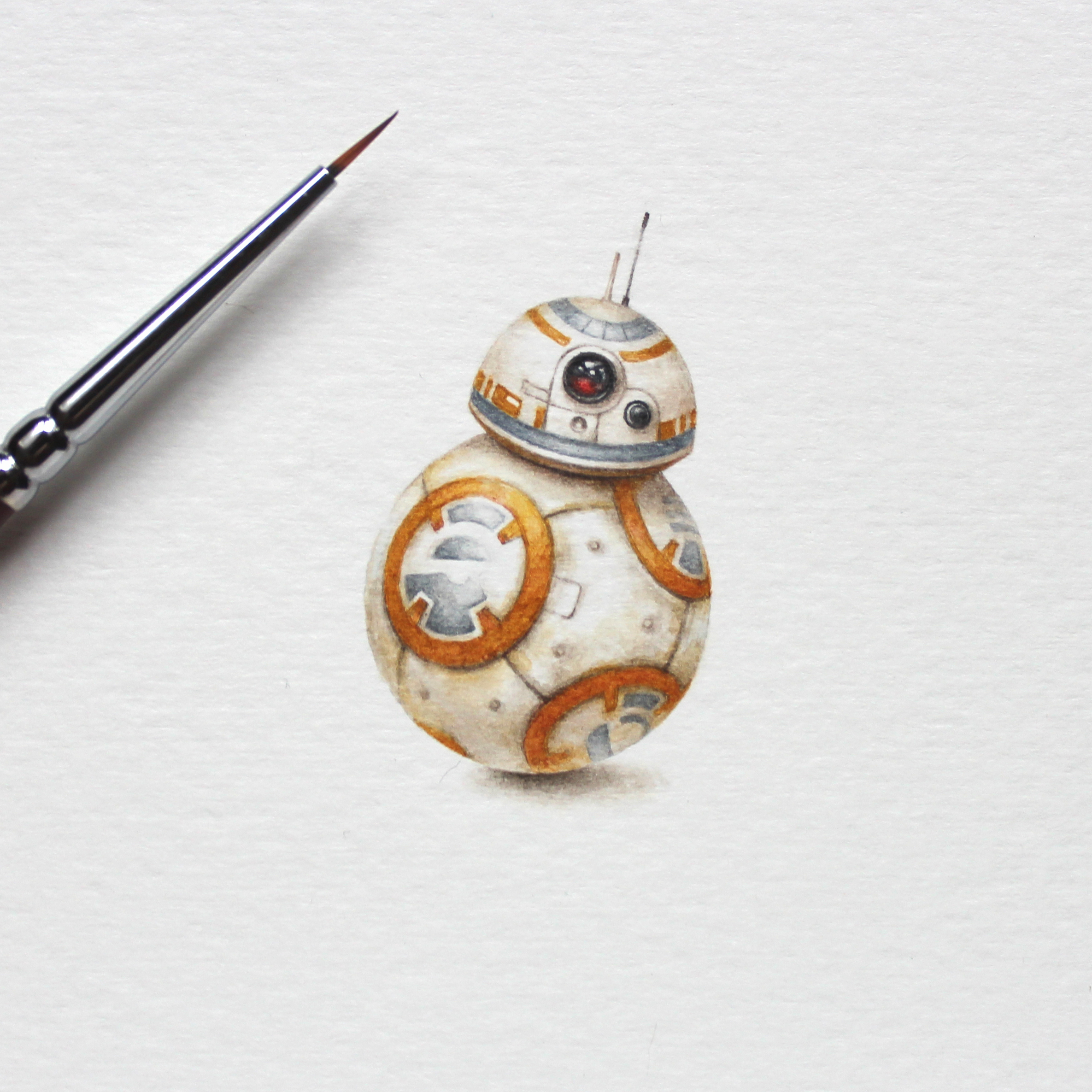 Julia Las  BB-8,  2018 watercolor