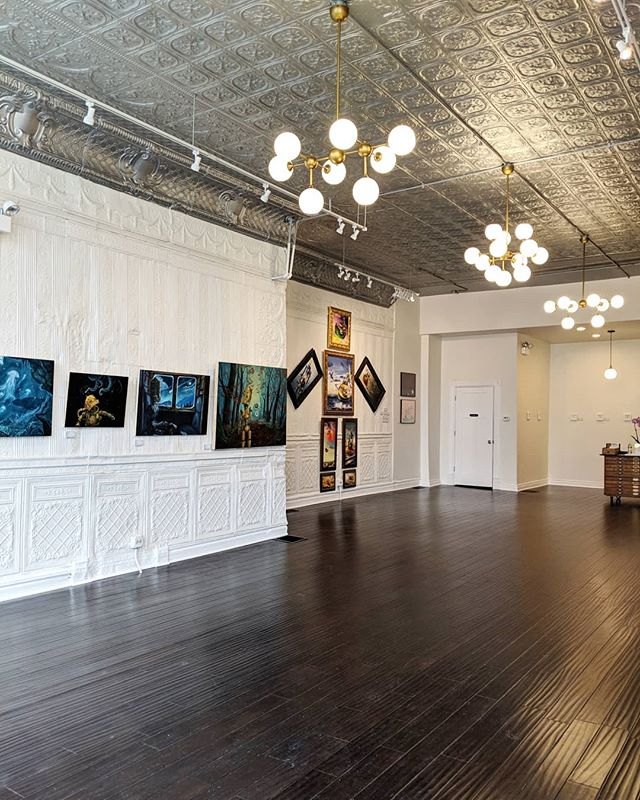 The #robotsamongus exhibition hangs for two more days!  Come check it out tonight or tomorrow before it leaves Chicago for good. . . . #DM for details and pricing.  Hours in bio. . . . #robots #art #chicagoart #chicago #artshow #artexhibition #painting #paintings #artexhibition #originalpainting  #robot #artgallery #gallery #galleryart  #openhouse #installation #nightout #friday
