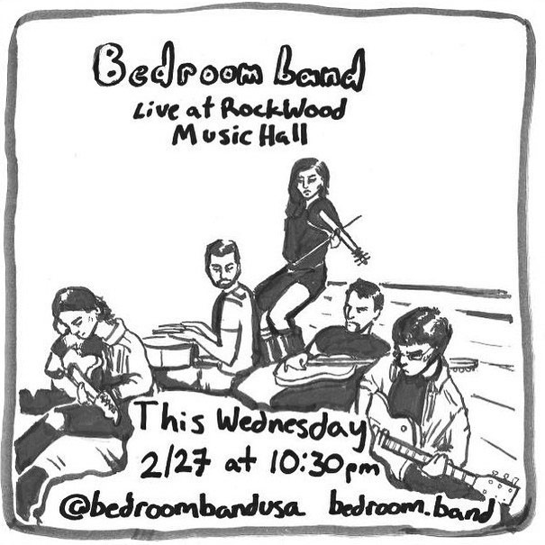 See you @rockwoodmusichall this Wednesday at 10:30pm! Shoutout to @dumpy_dump_9_one_one for the awesome art 🎨