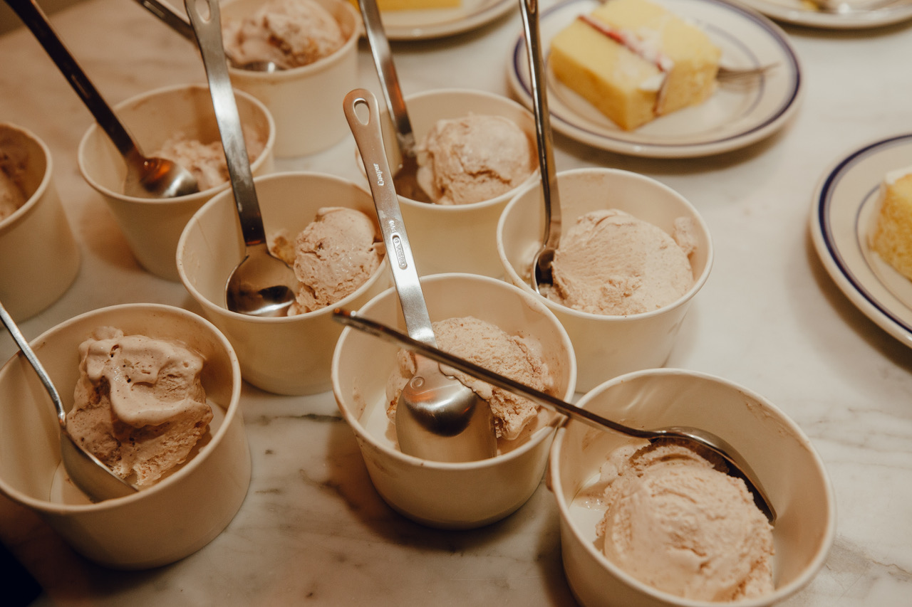 Roasted chestnut ice cream created for Abbe and Rob. November '18.