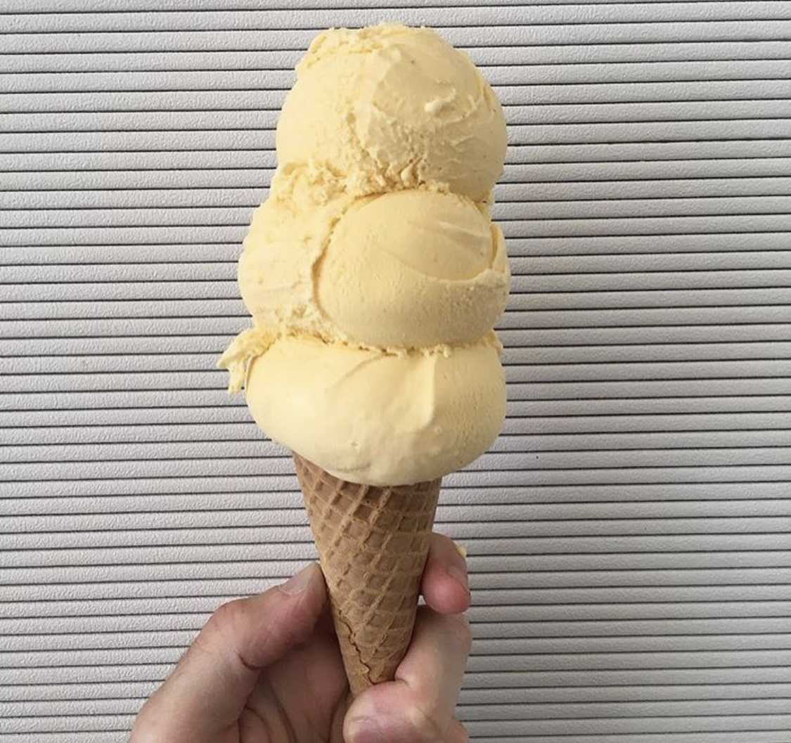 He forgot to feed the cat they got together last month / trouble in paradise - Spicy Mango.  Gracie's Ice Cream, Somerville, MA,  graciesicecre.am ,  @icecreamgracies