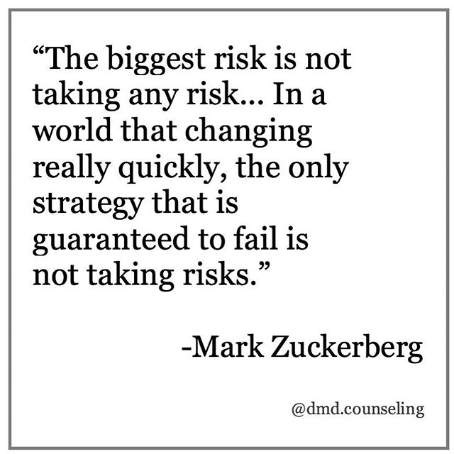 What risks have you taken lately? Starting this practice is a huge risk for me.... but so worth it !