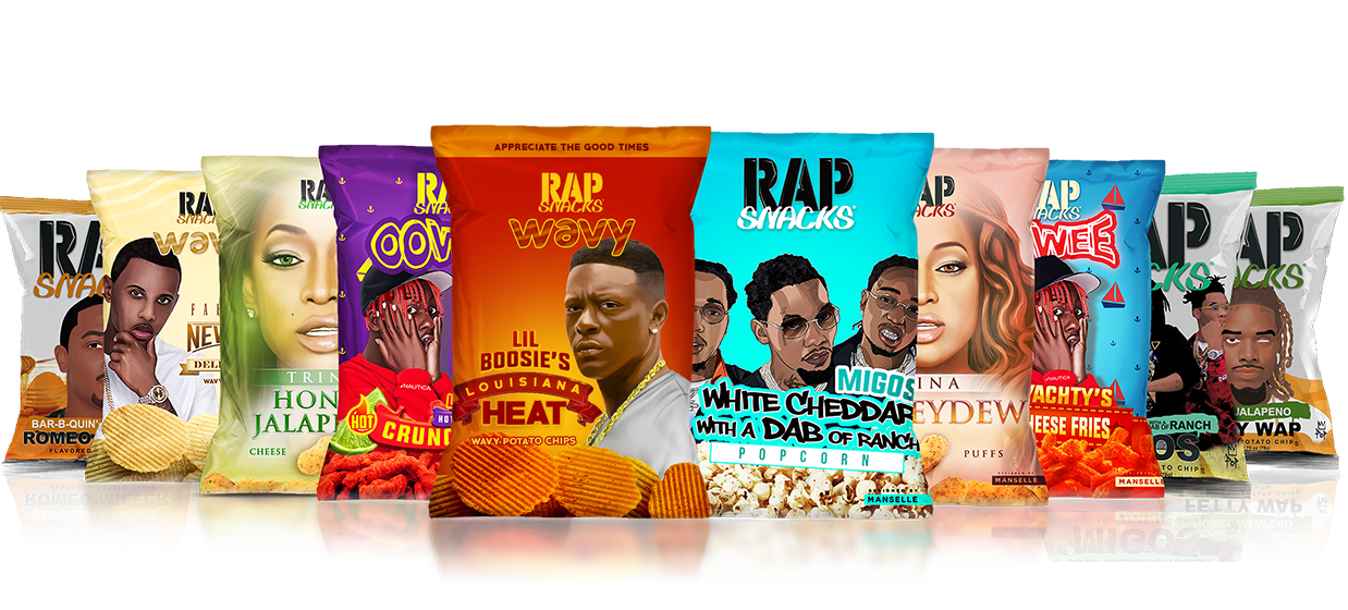 Rap Snacks - The official snack bag representing the Hip Hop community.