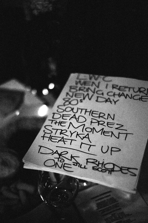 Shapeshifter set list