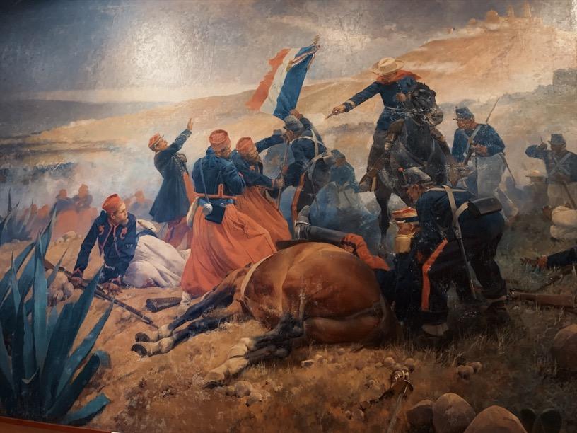 a Cinco de Mayo battle of puebla painting, artist unknown