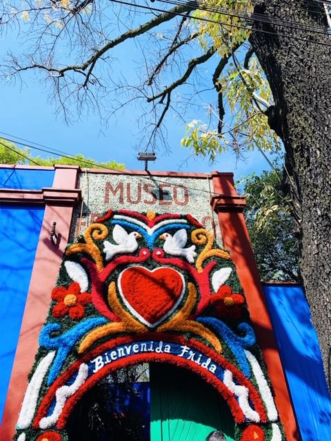Entrance into Casa Azul, Frida Kahlo Museum