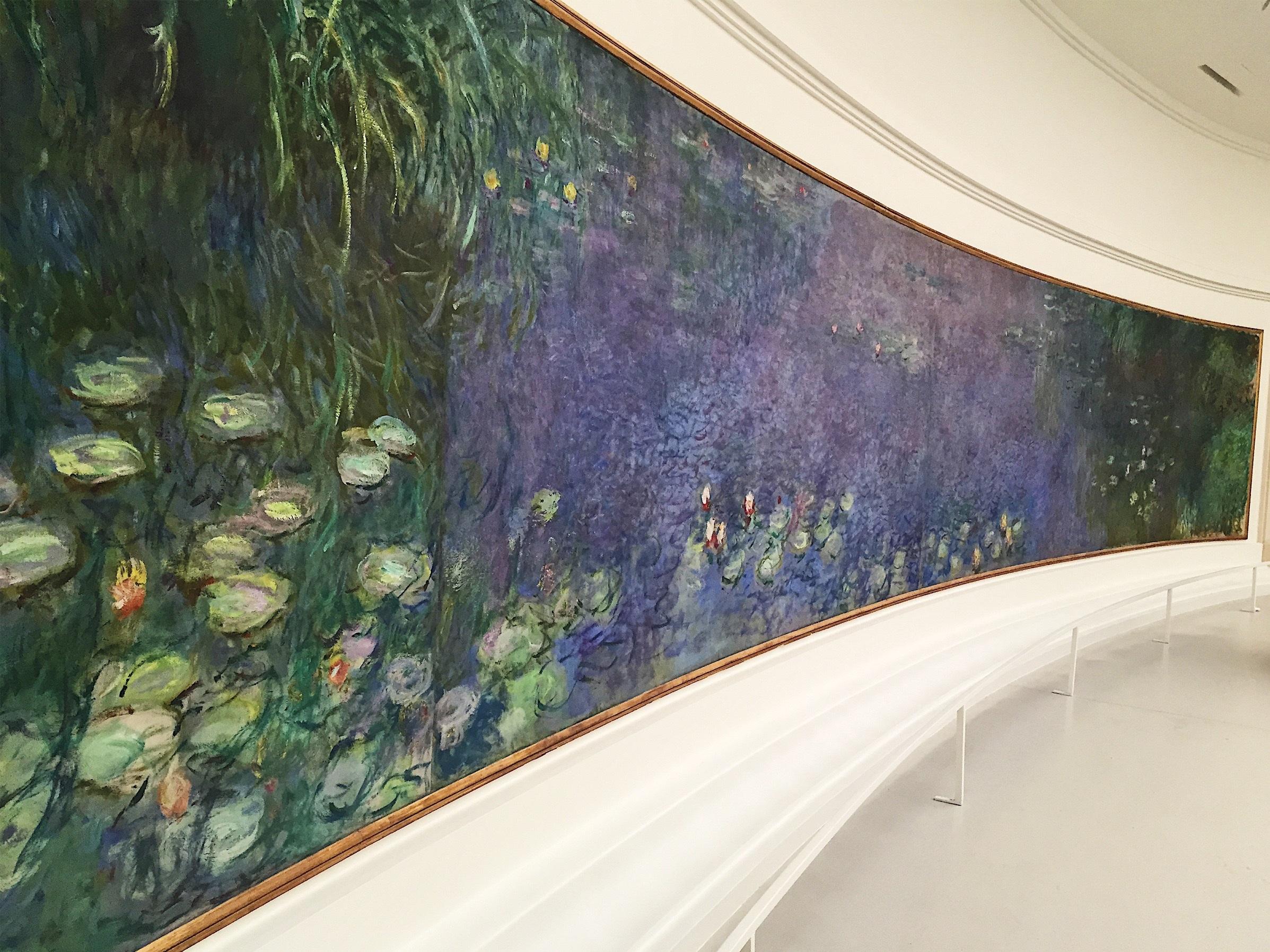 Waterlilies by Monet, Musee L'Orangerie , Paris