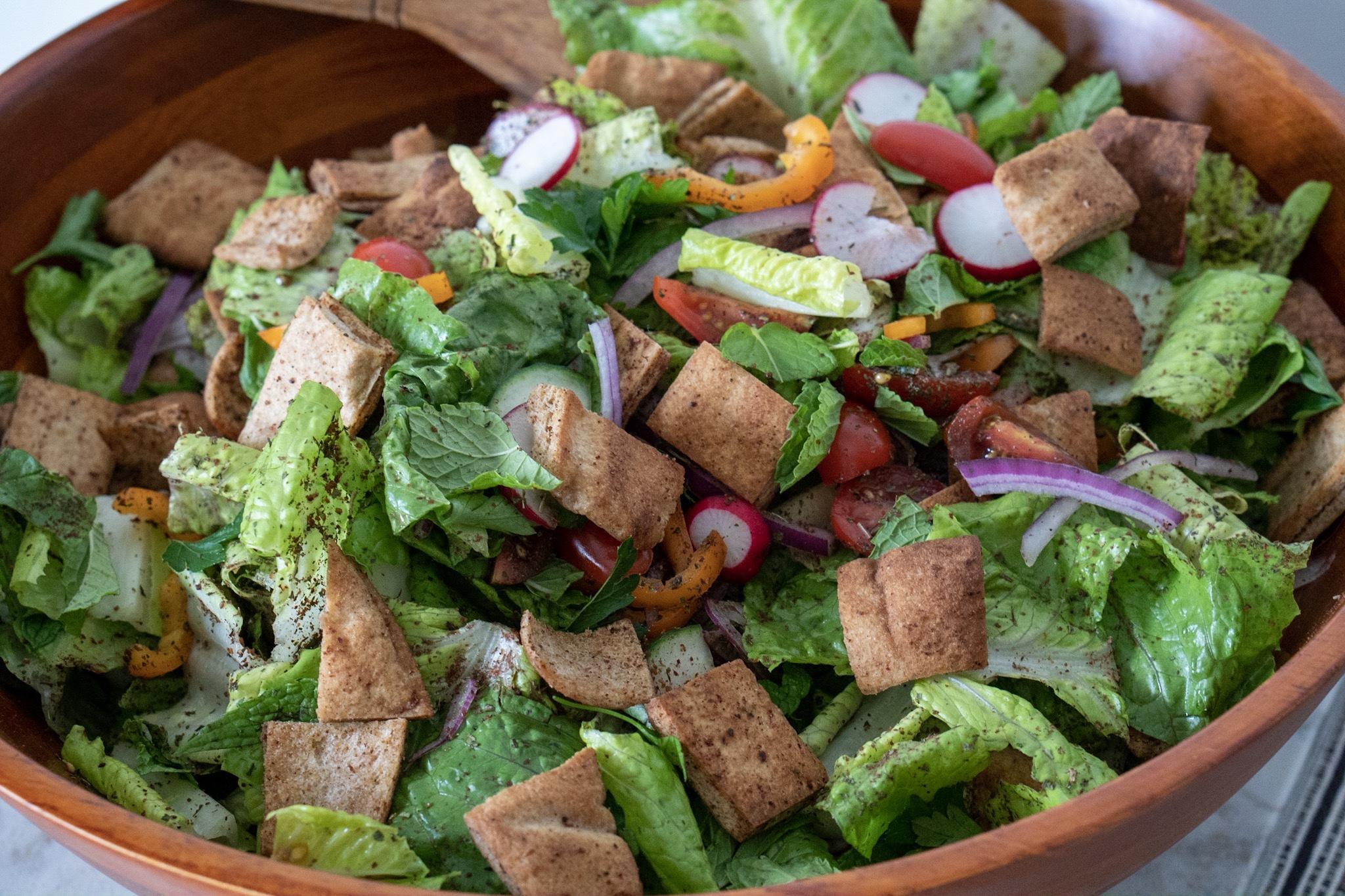 Mixed Fattoush Salad, undressed