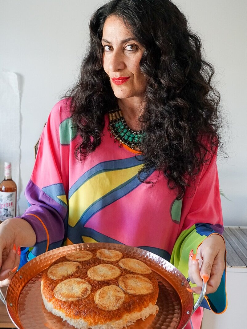 Parisa and her famous Tahdig