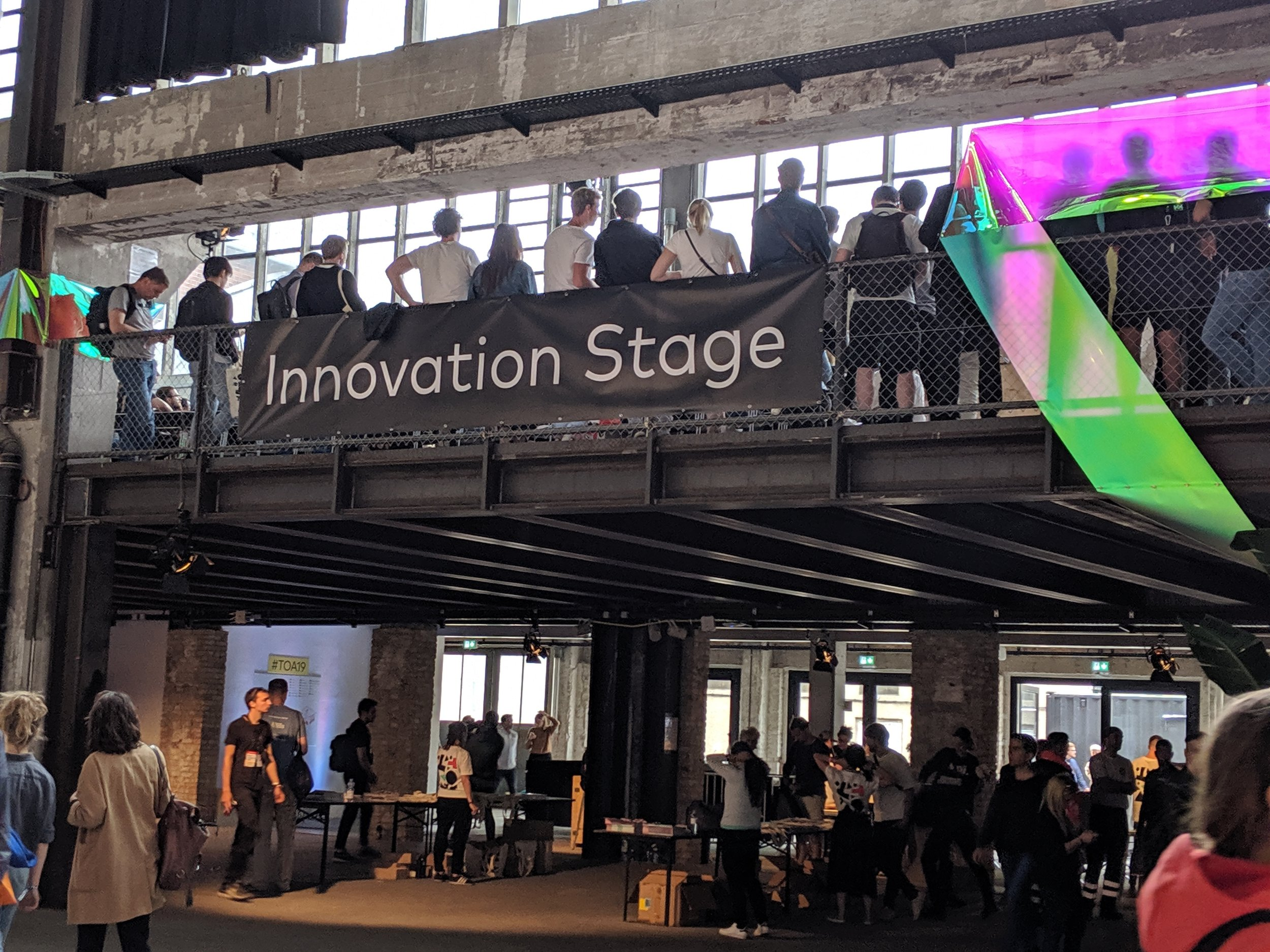 The Innovation Stage as one of four stages at TOA19!