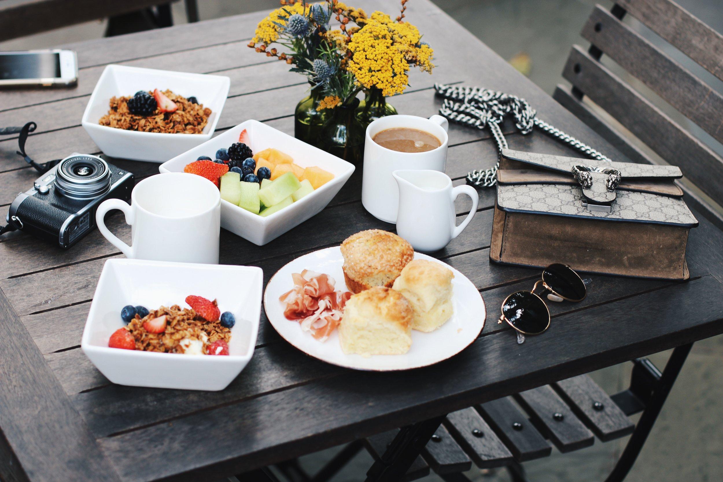 Breakfast at the Zero George Hotel by Julia Friedman in Charleston, South Carolina.