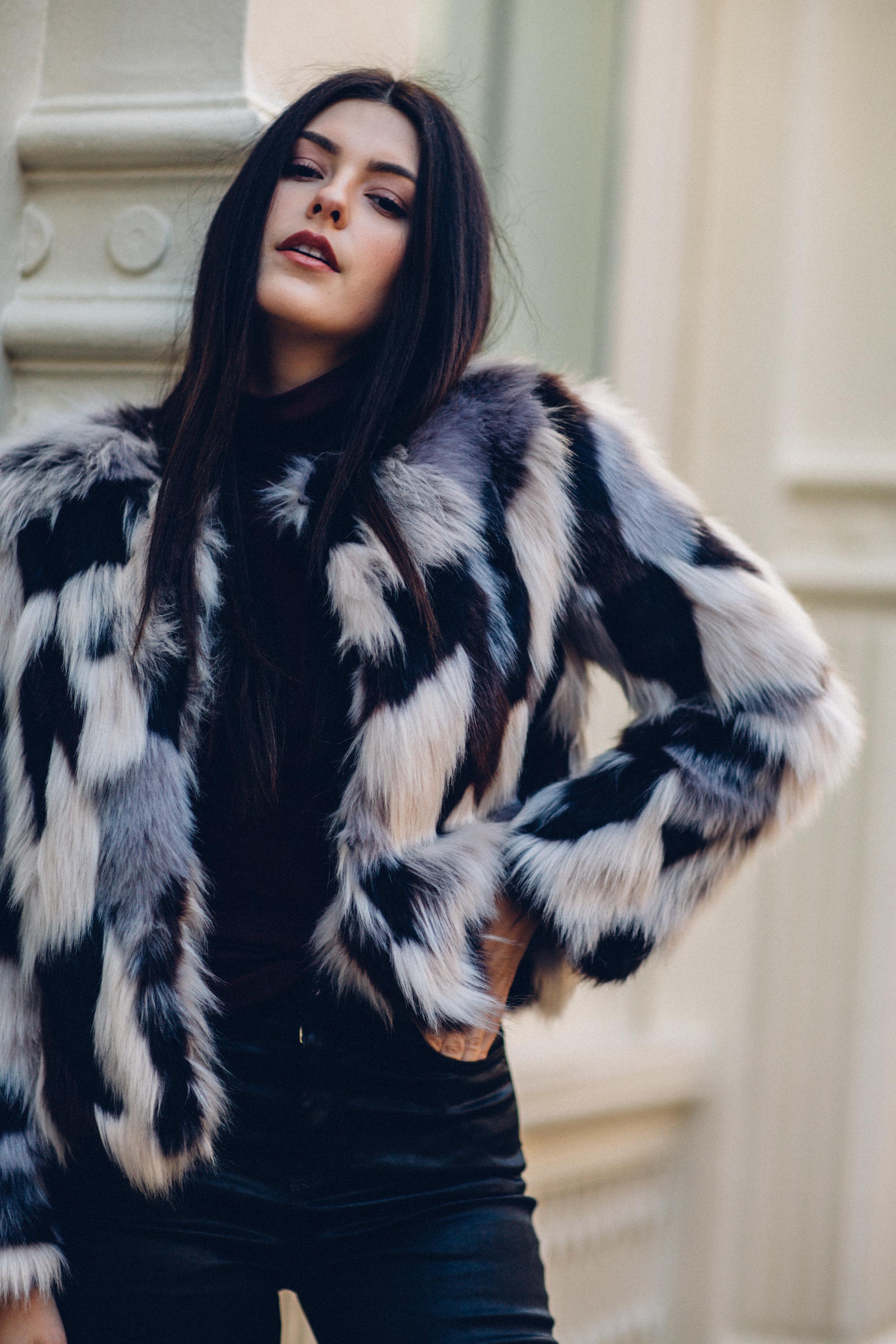 Julia Friedman New York Trip in December in a Forever 21 jacket.