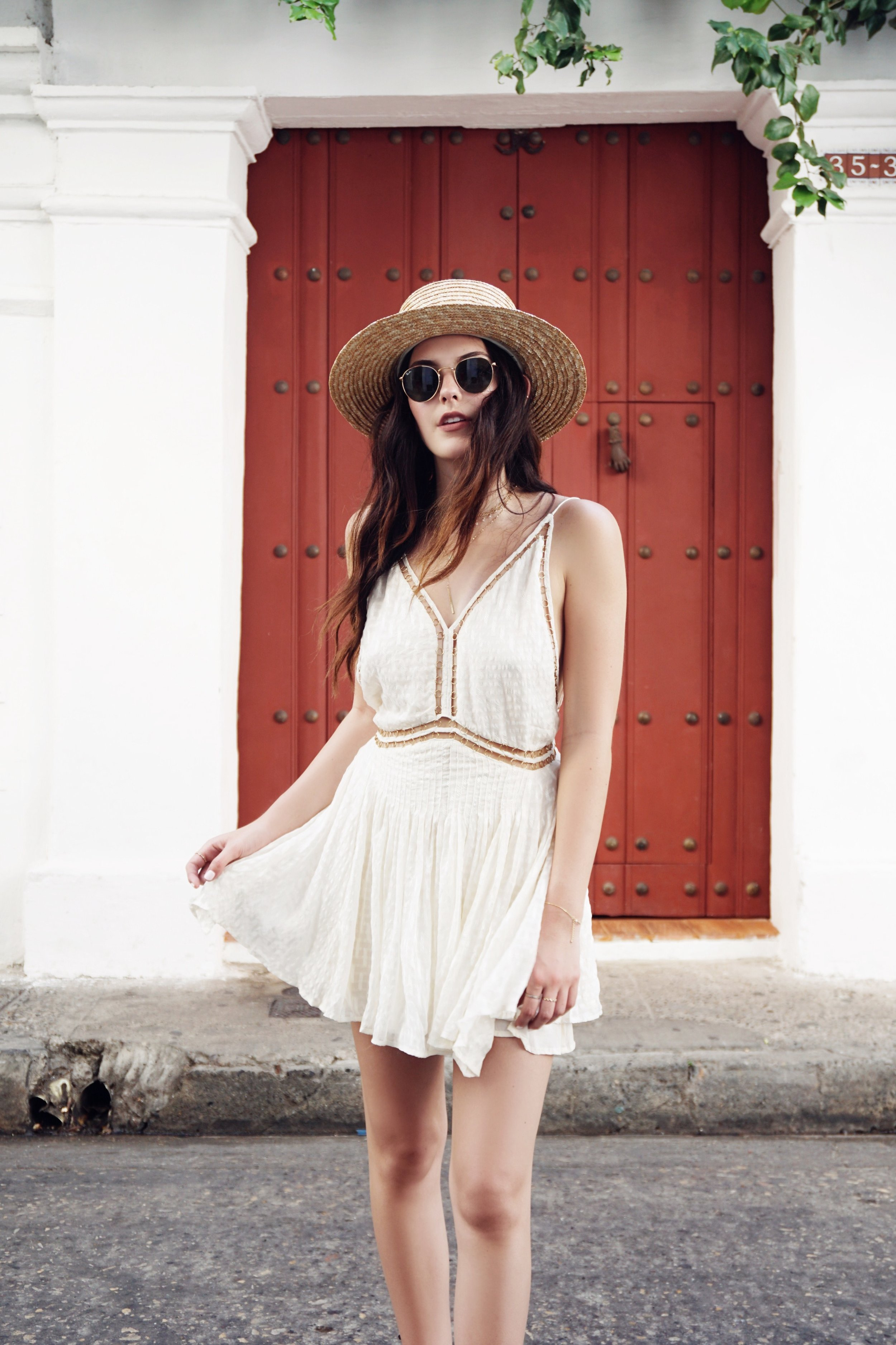 Julia Friedman's travel diary to Cartagena, Colombia wearing Magali Pascal.