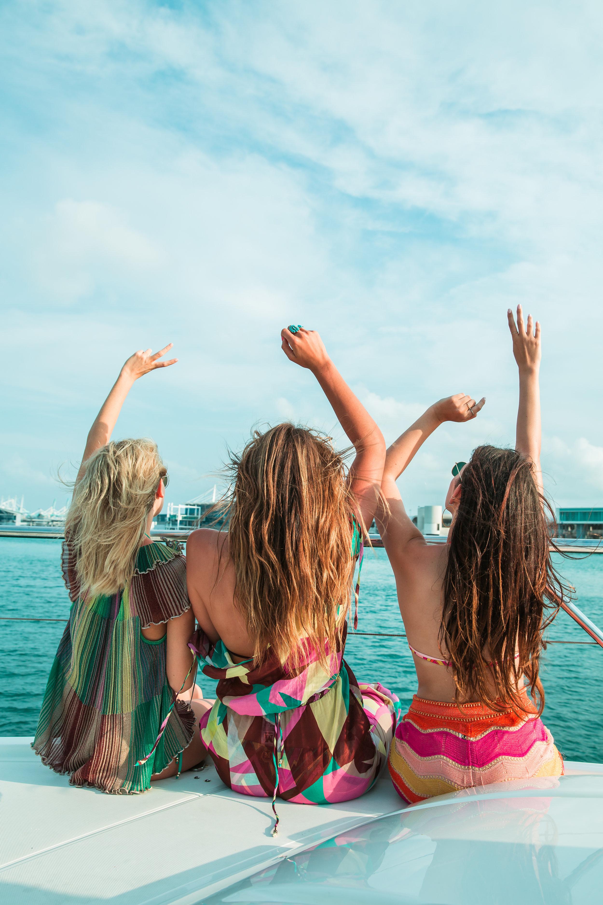 M Missoni takes Julia Friedman, Tessa Barton, and Laurie Ferraro to Miami.