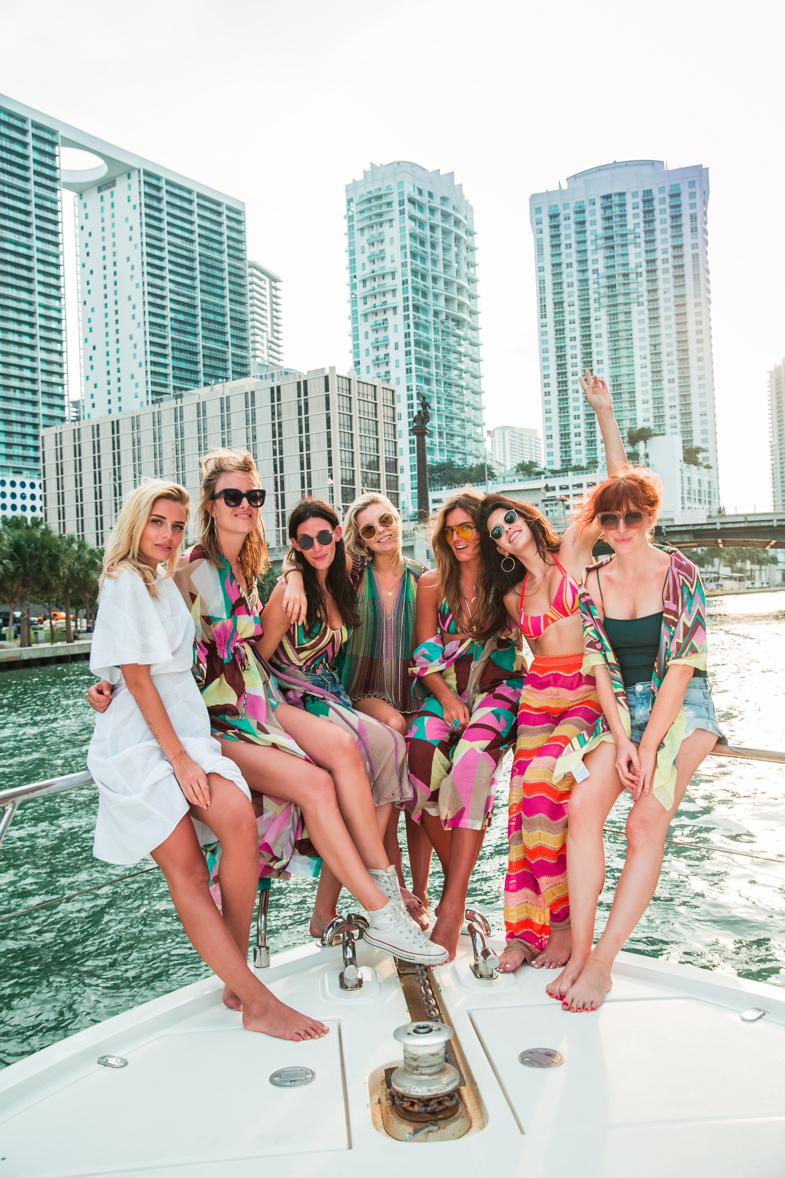 On a yacht in Miami with M Missoni