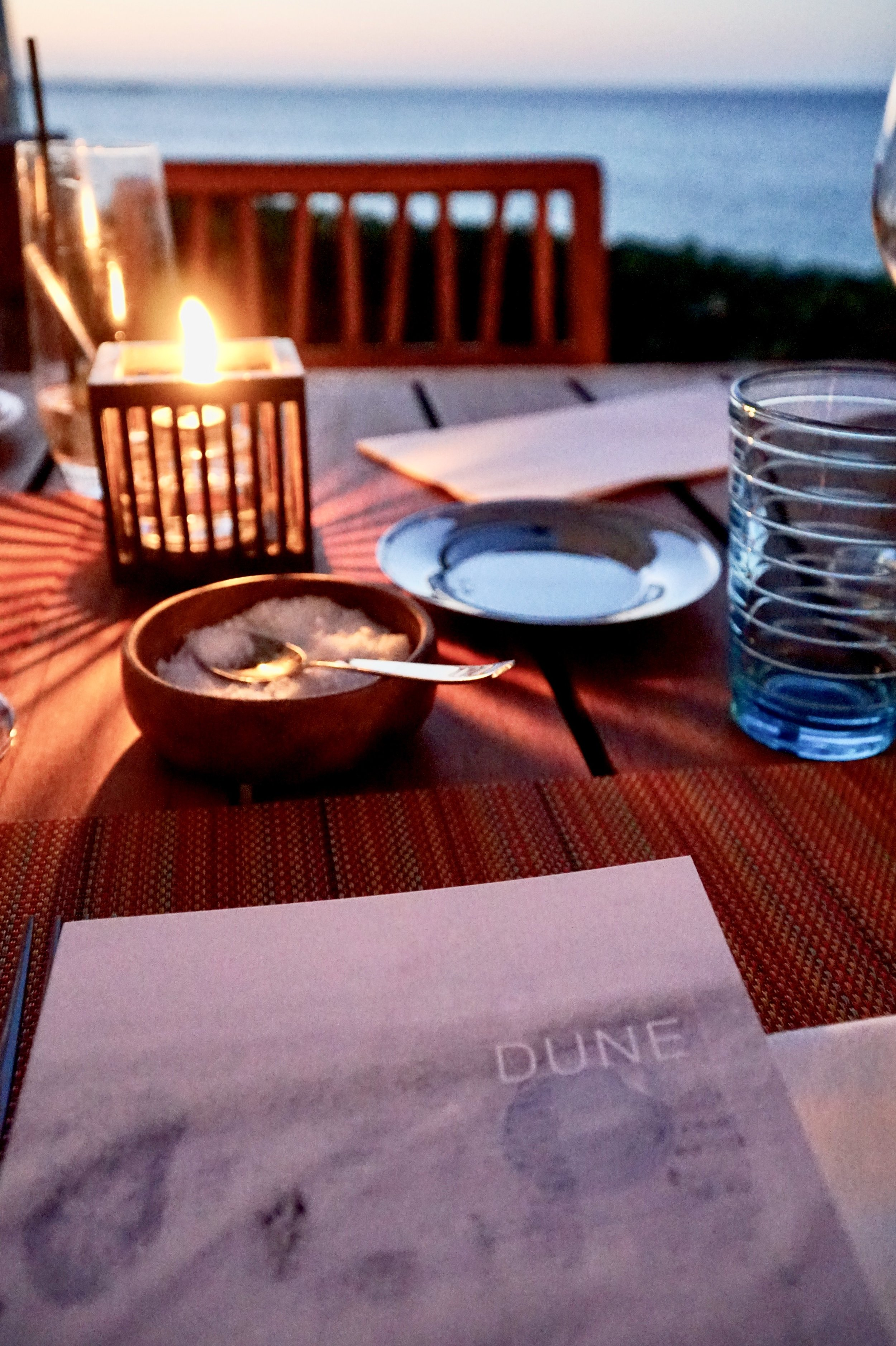 Seaside dinner at Dune at the One&Only Ocean Club in the Bahamas taken by Julia Friedman