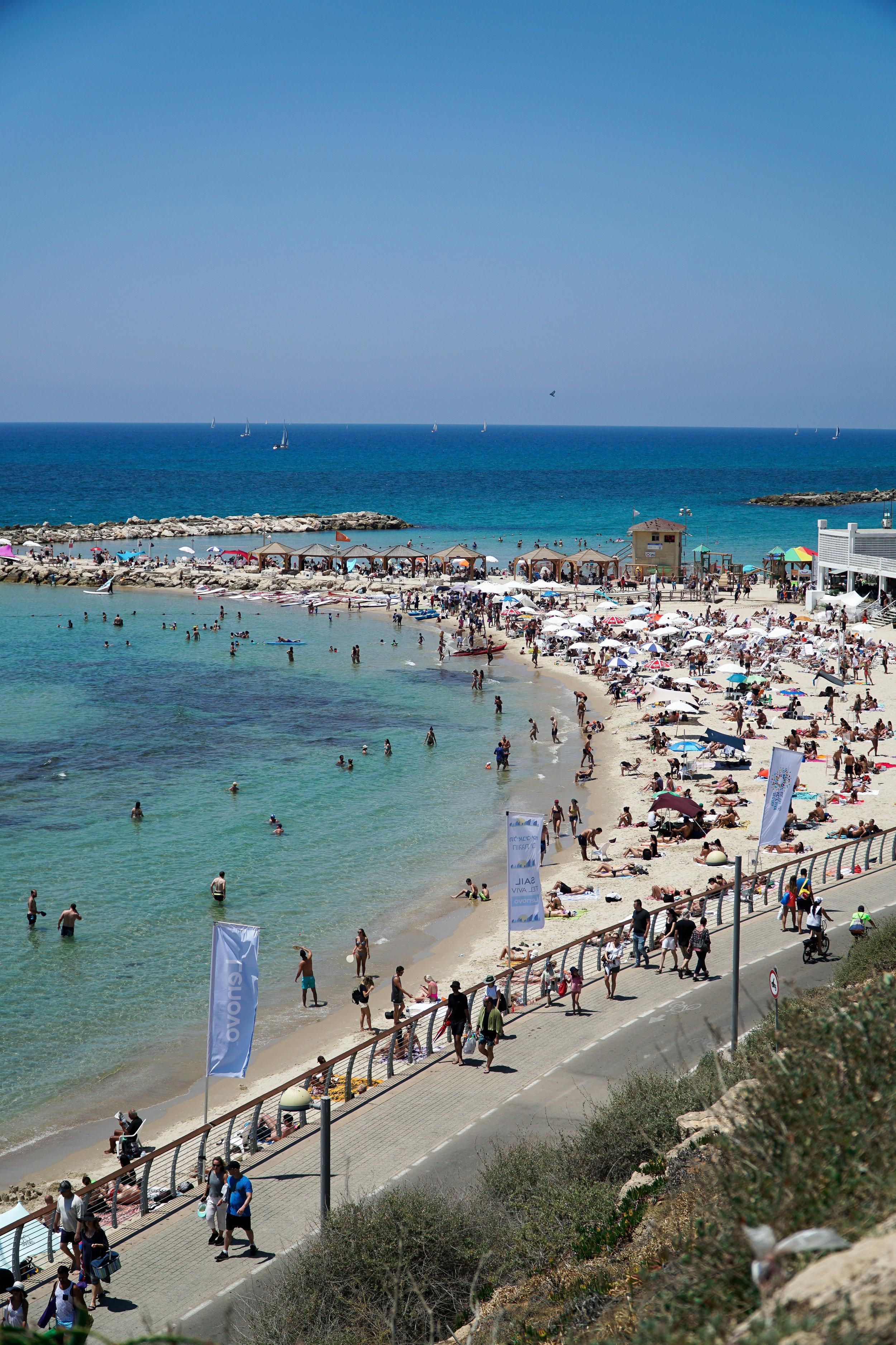 Julia Friedman's Israel Diary Week 1 TopSea beach