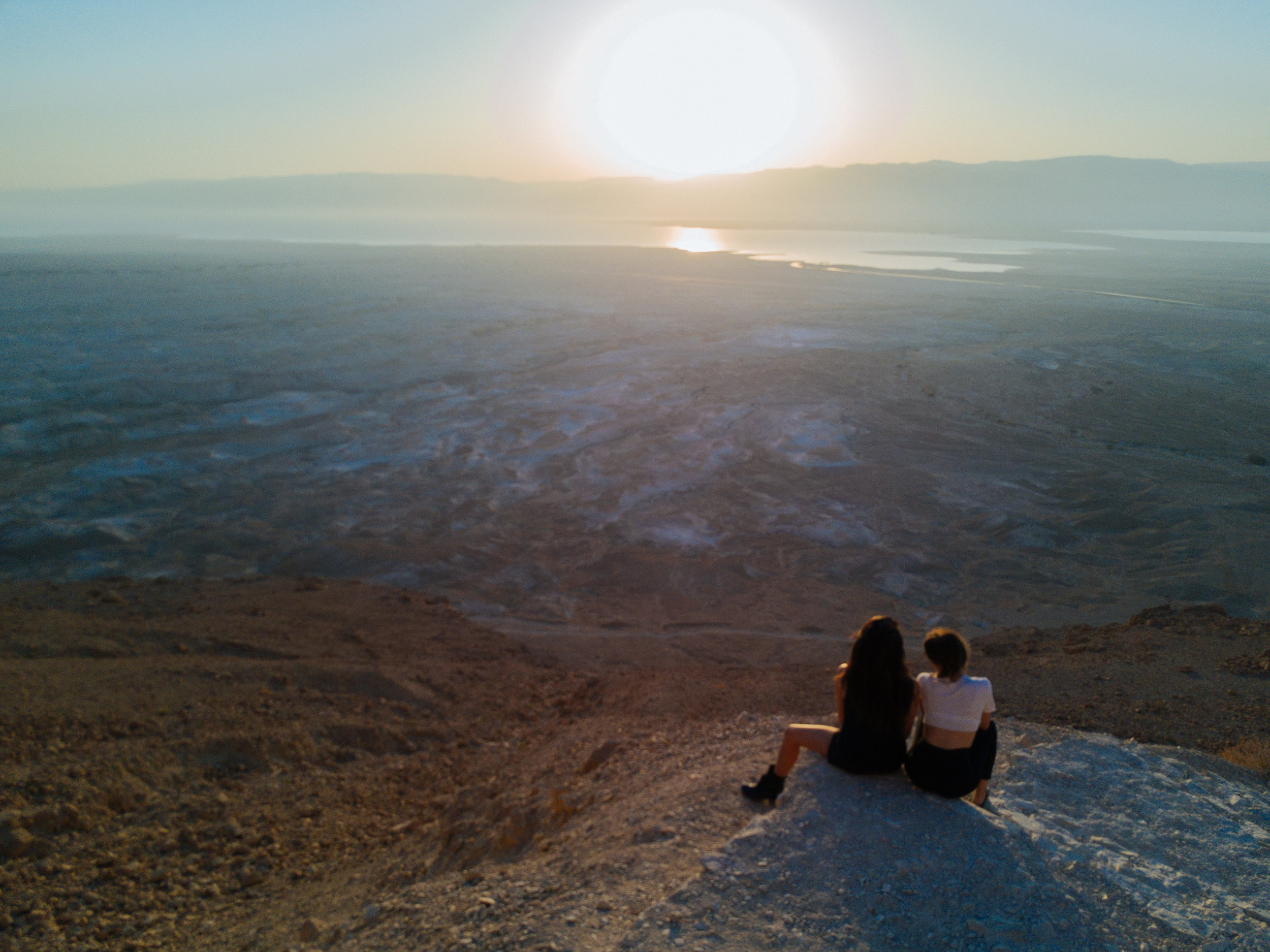 Julia Friedman sunrise hike of Masada.