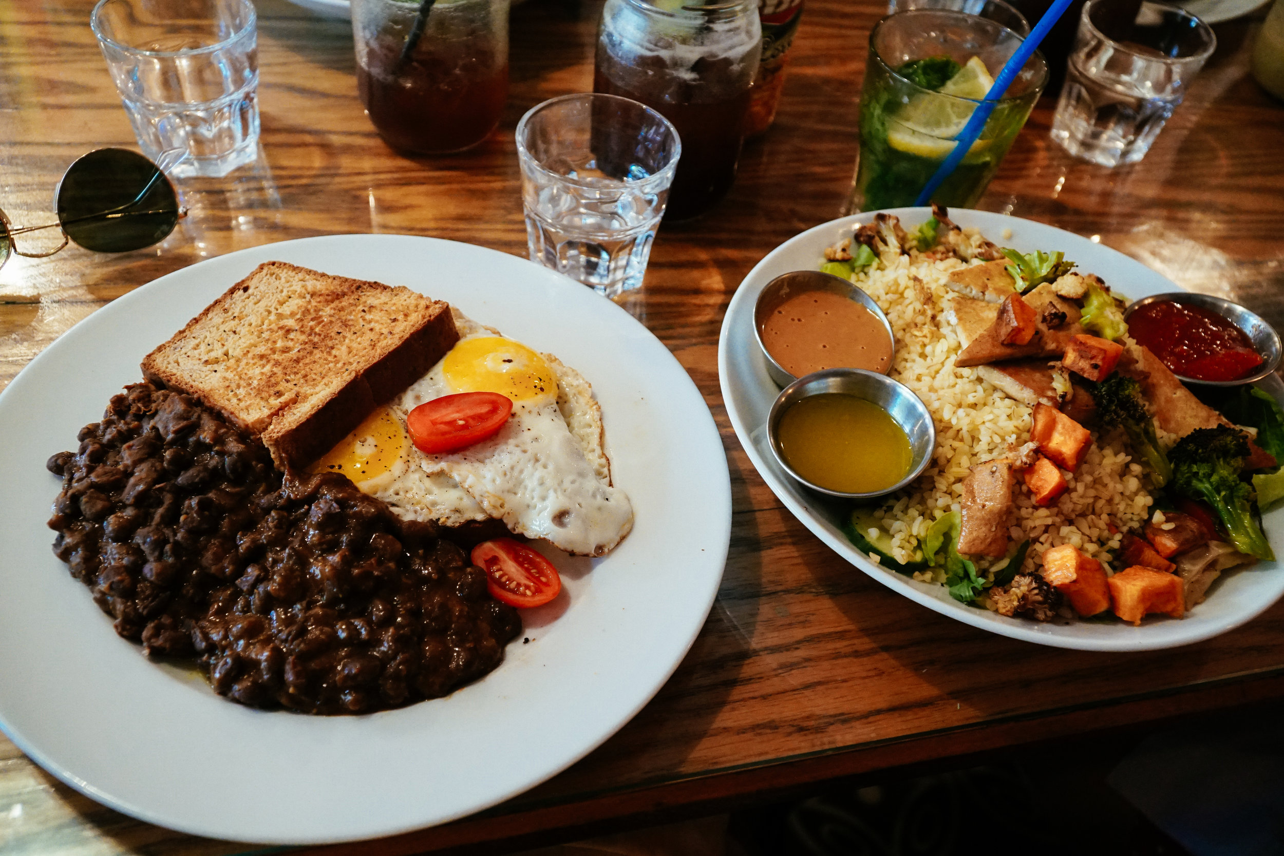 Brunch at Cafe Xoho in Tel Aviv, Israel Julia Friedman Israel Diary #2