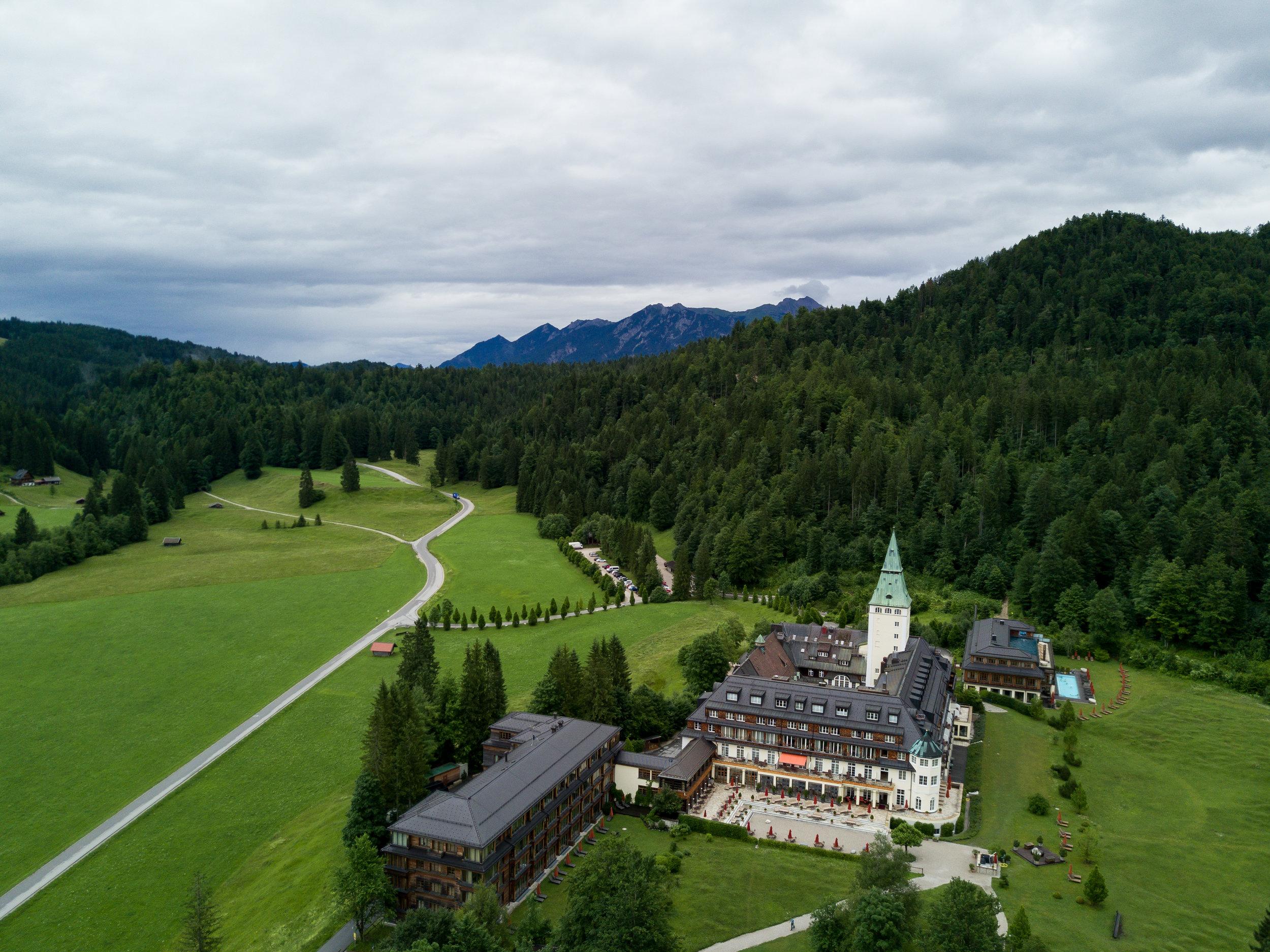Julia Friedman stays at the Schloss ELmau in Germany.