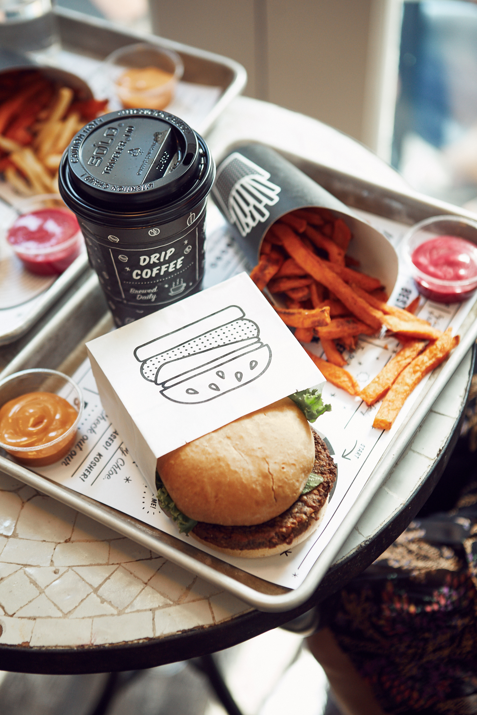 3 Healthy Brunch Spots in NYC ByChloe Vegan, Gluten-Free Veggie Burger and Air-Popped Sweet Potato Fries