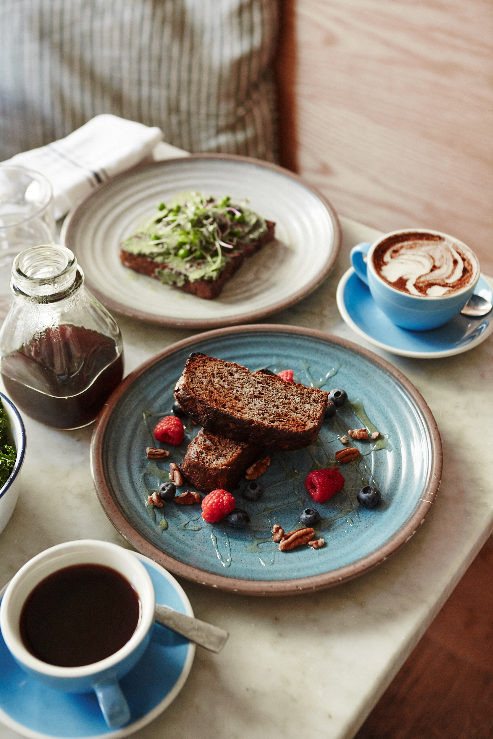 3 Healthy Brunch Spots in NYC | Julia Friedman | Bluestone Lane Vegan, Gluten-Free Banana Bread.
