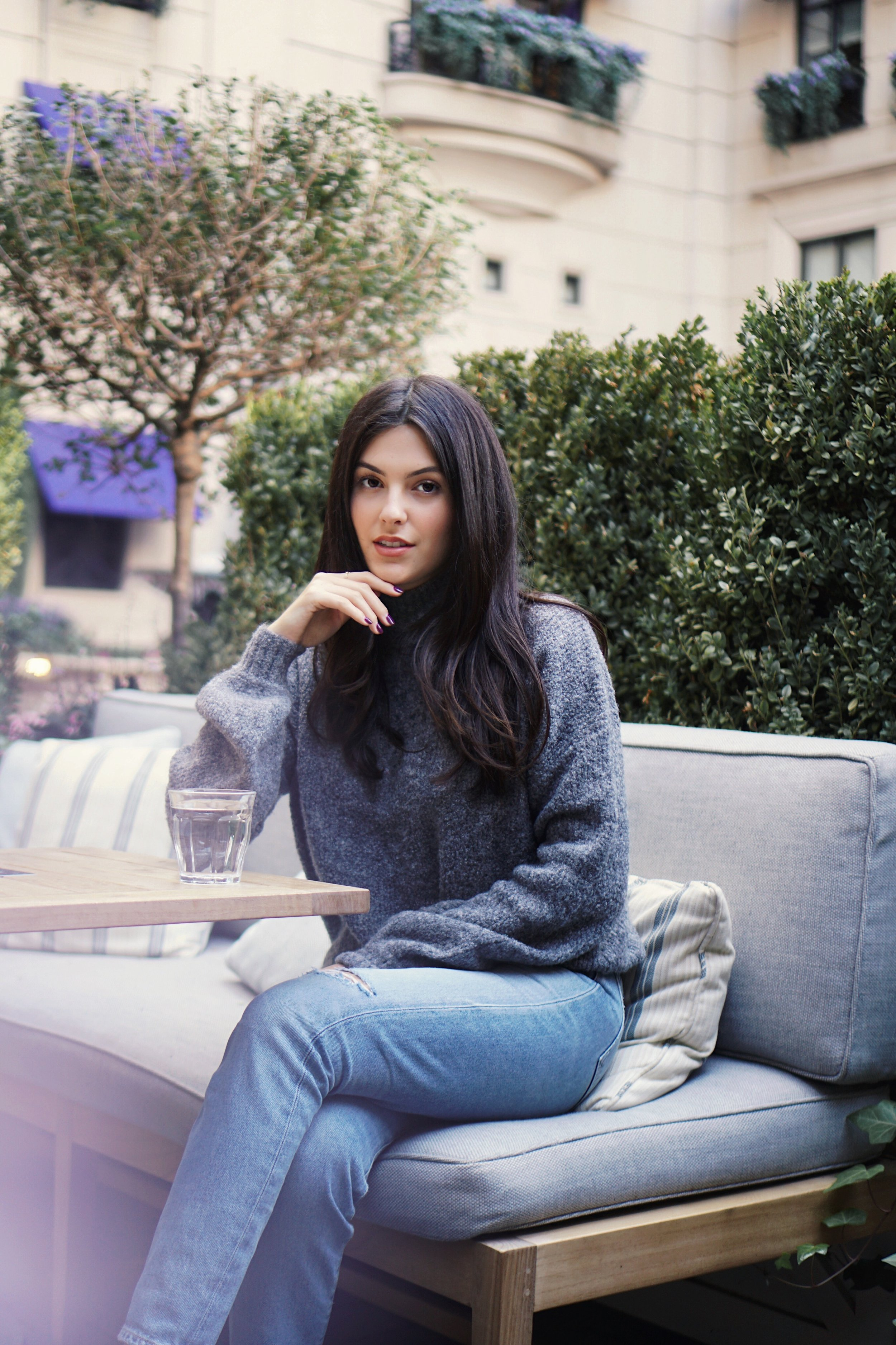 24 hours in Chicago | Fall Style Julia Friedman Grey Sweater