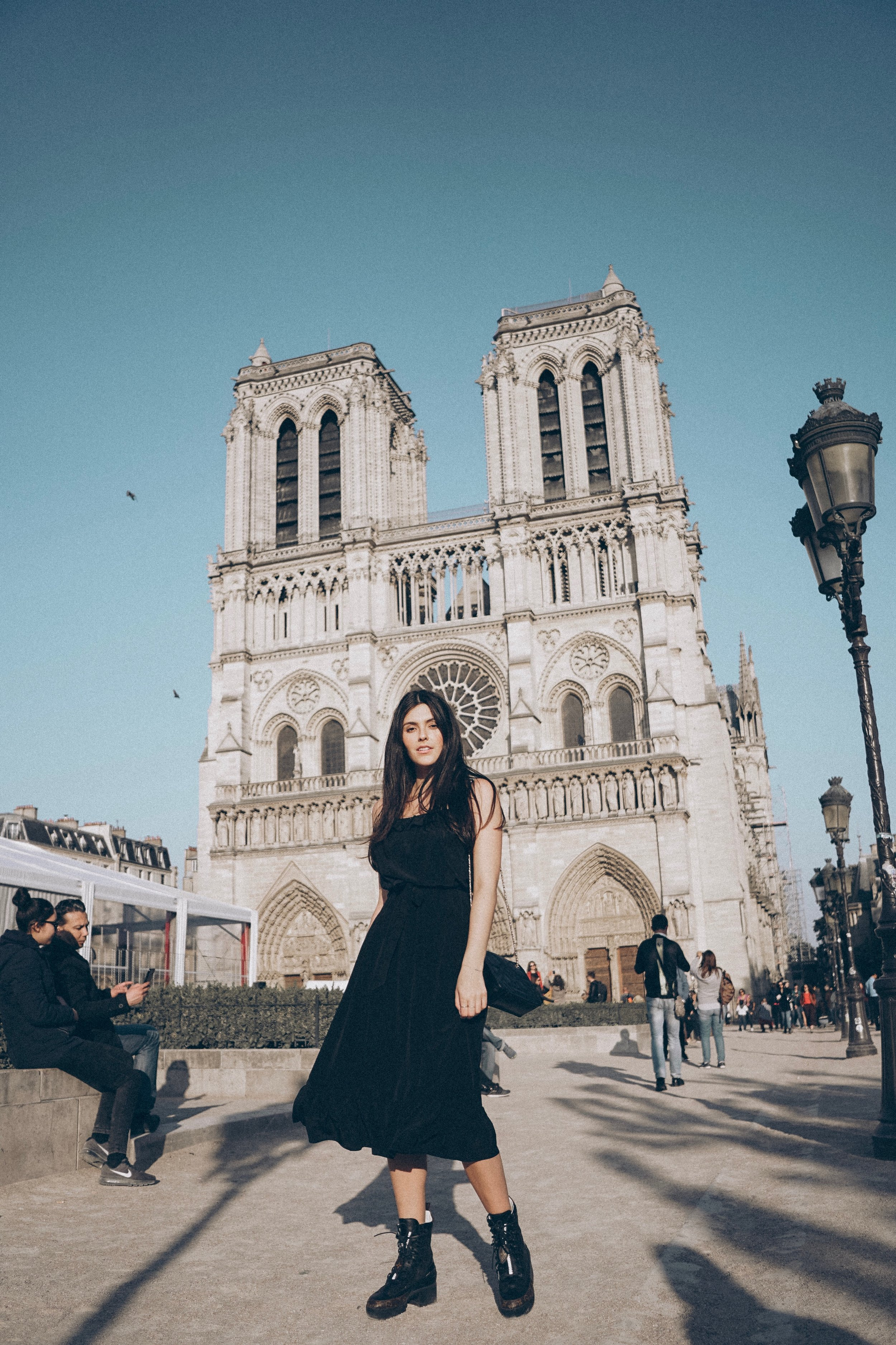 Paris for the Weekend Julia Friedman Notre Dame wearing Sezane