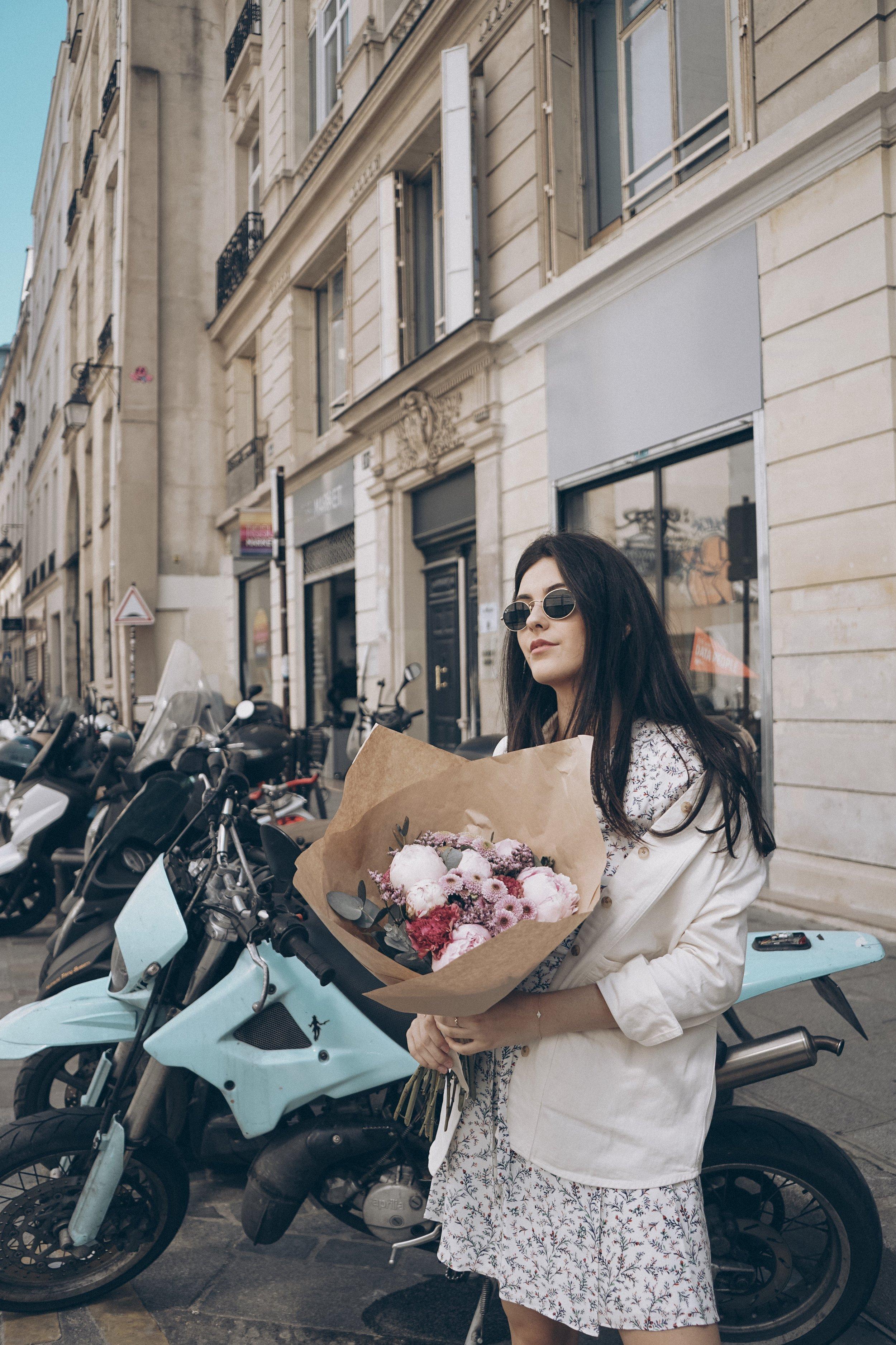 Paris for the Weekend Julia Friedman wearing Sezane