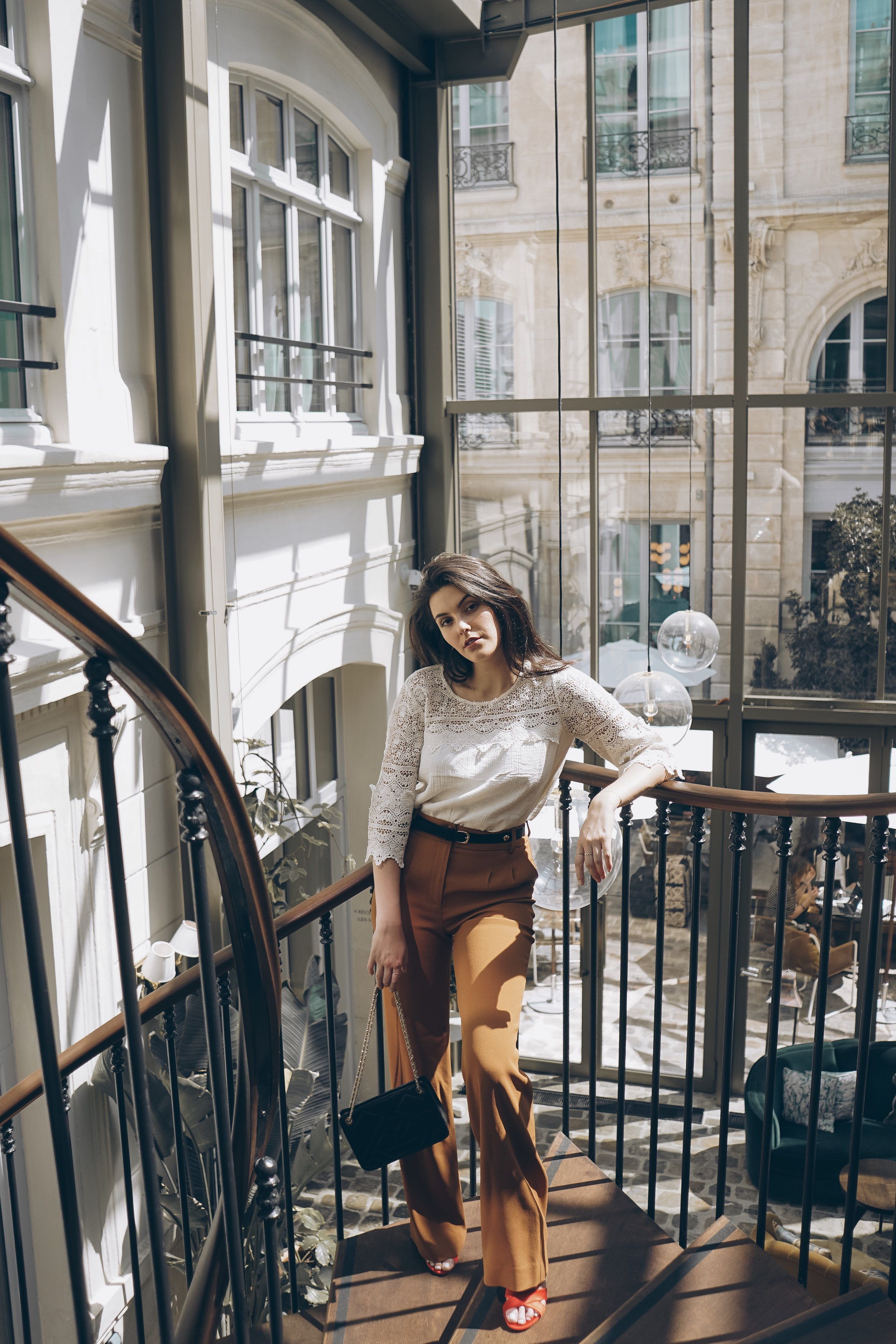 Paris for the Weekend Julia Friedman Hotel Hoxton wearing Sezane