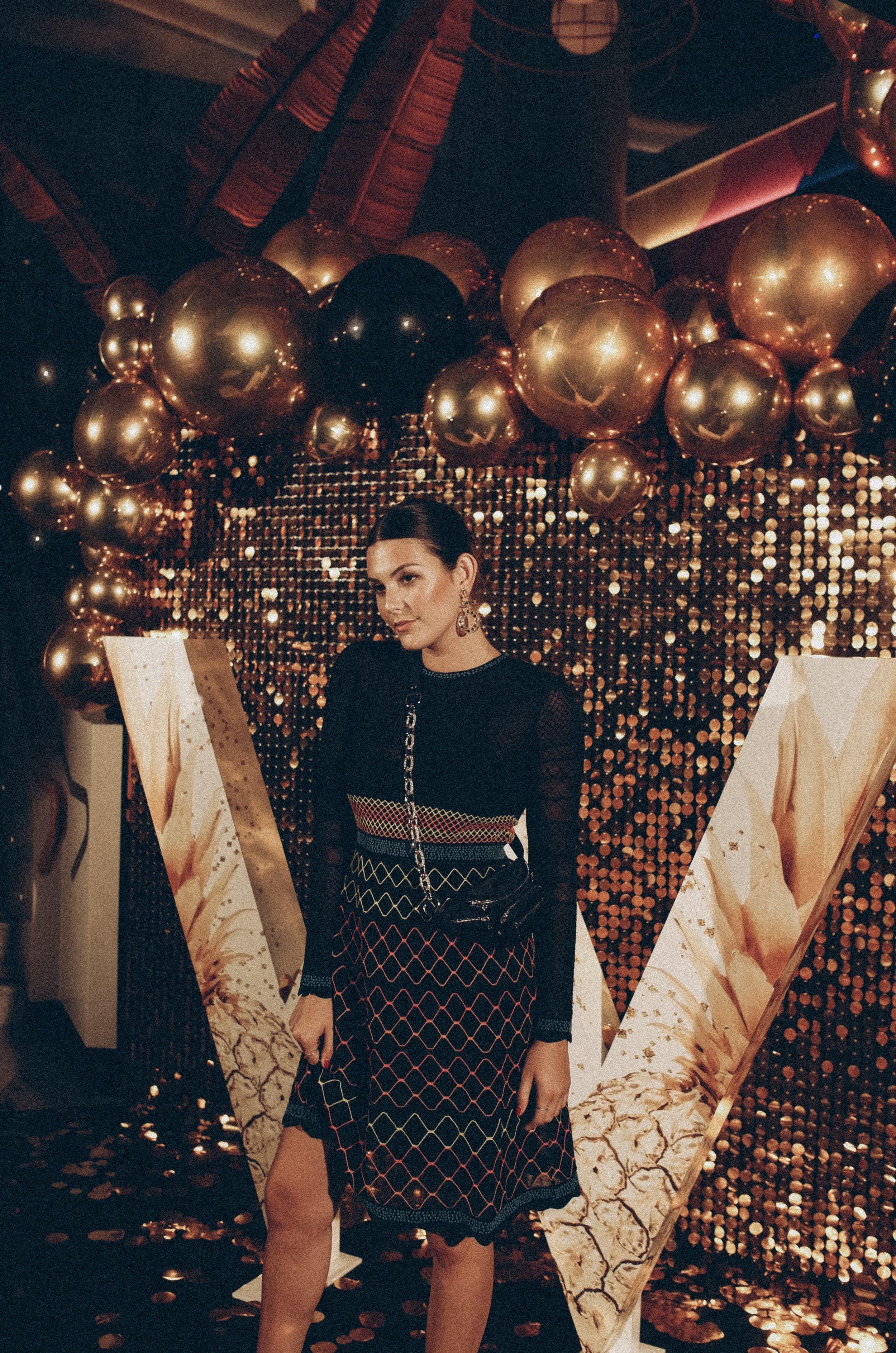 Julia Friedman wears M Missoni to W Hotel Brisbane Opening Party, September Down Under Australia