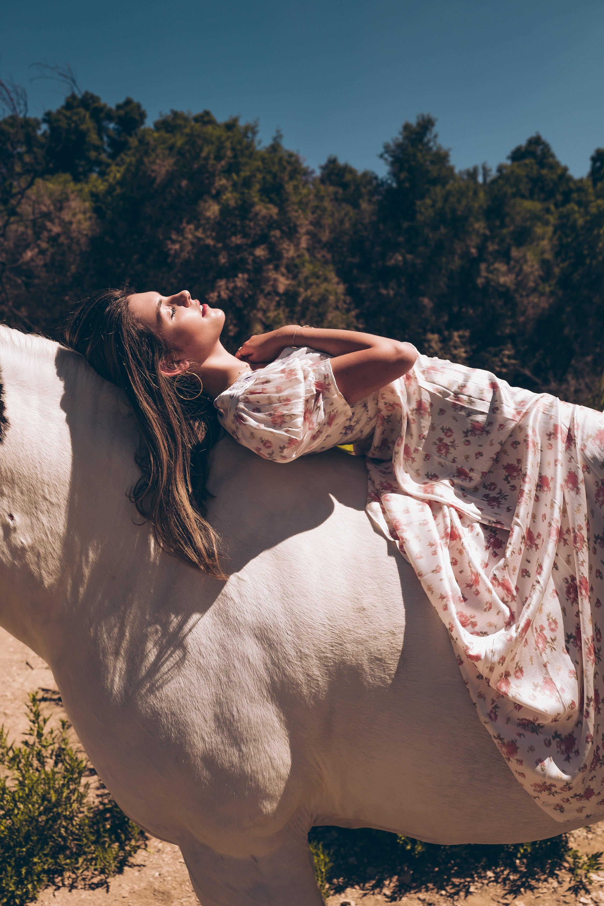 julia friedman love shack fancy dress malibu gems horseback