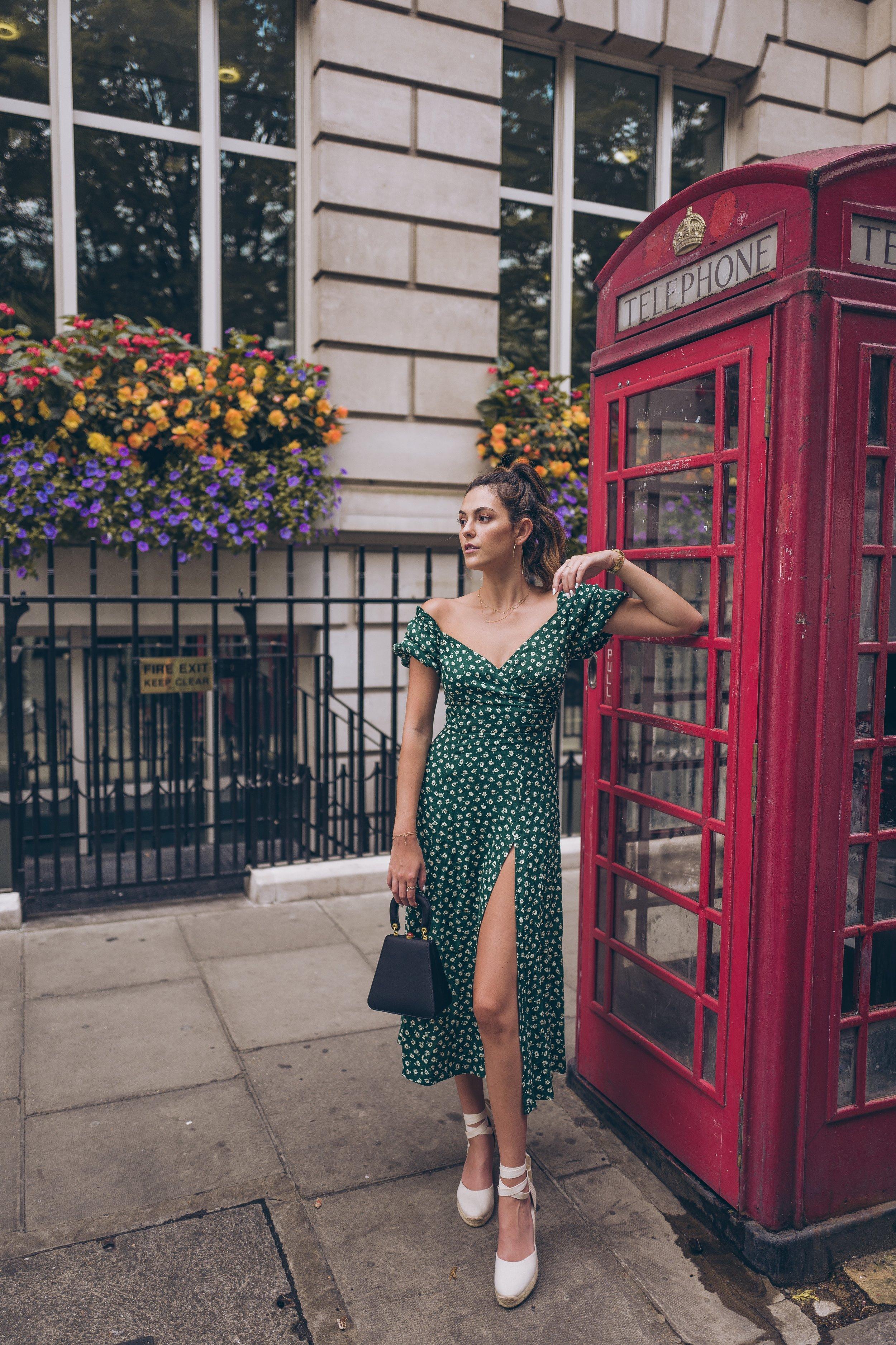 Julia friedman London reformation dress Piccadilly Circus