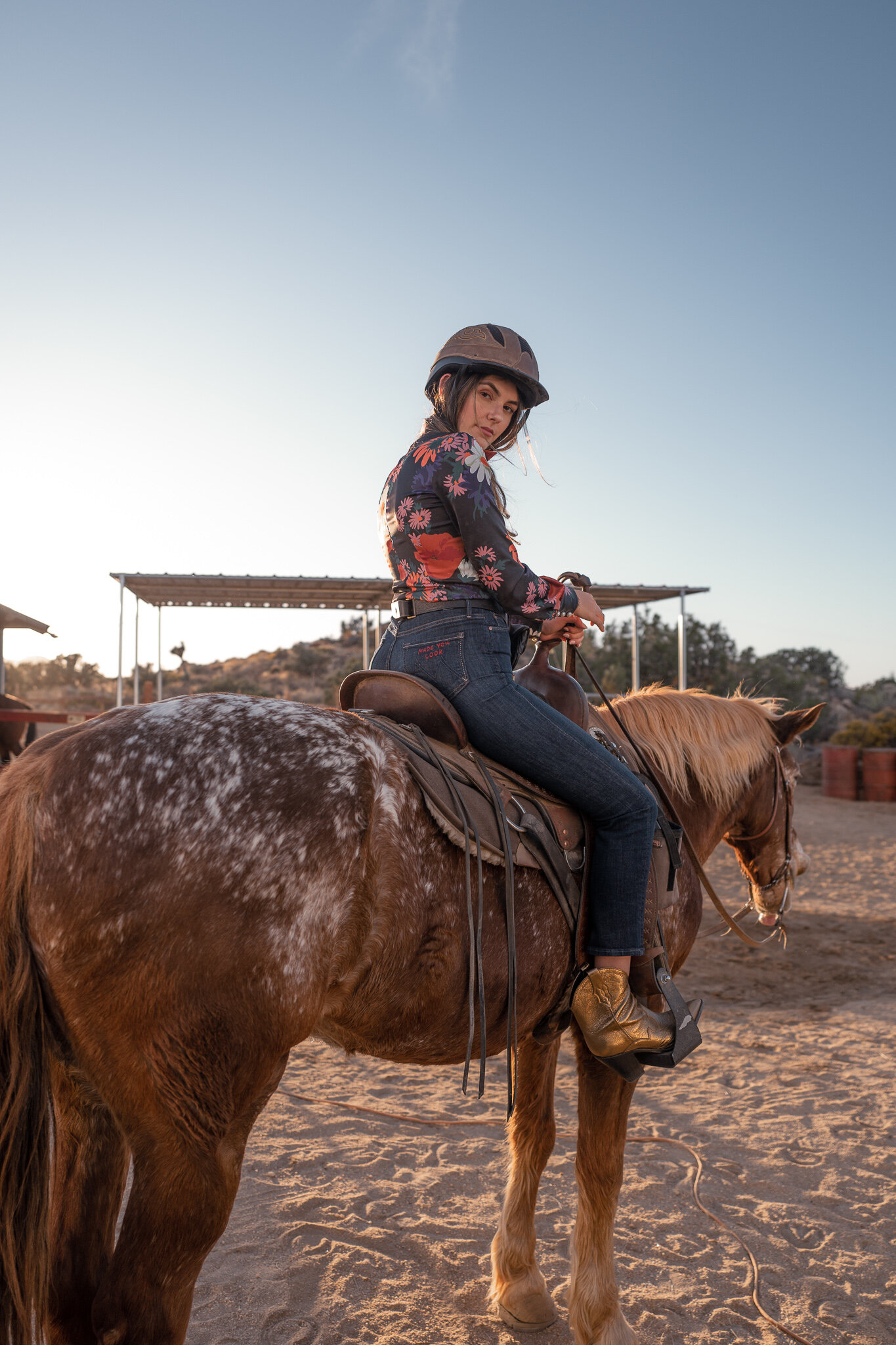 horseback riding in Joshua tree knob hill ranch Joshua tree guide Julia friedman