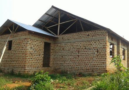 Kasaba hall under construction in Uganda
