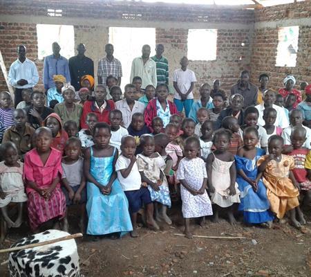 Fellowship meeting in Kasaba, Uganda